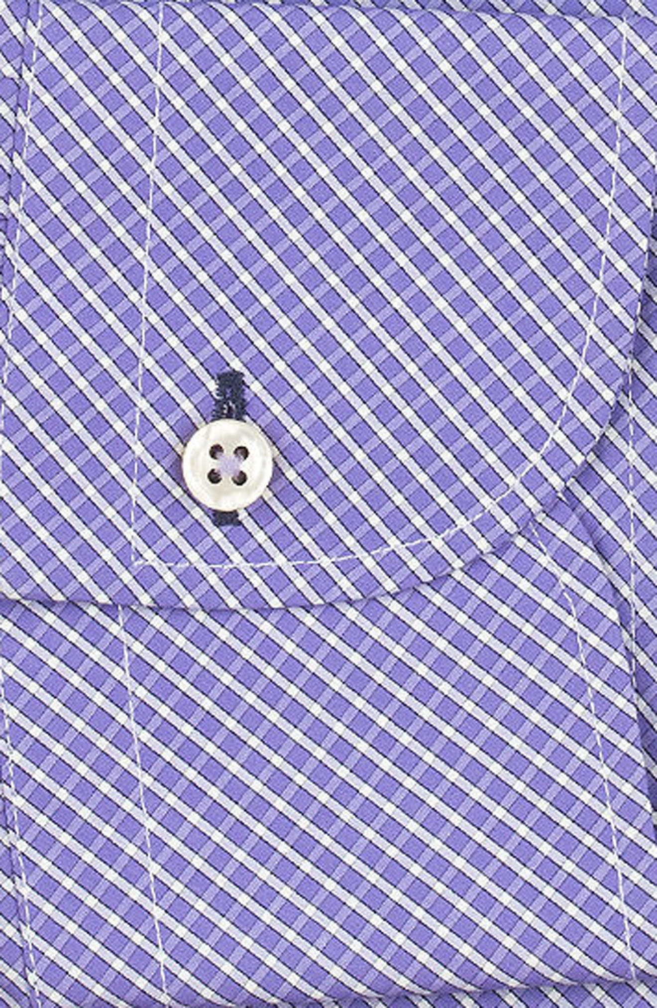 Regular Fit Check Dress Shirt,                             Alternate thumbnail 6, color,                             PURPLE