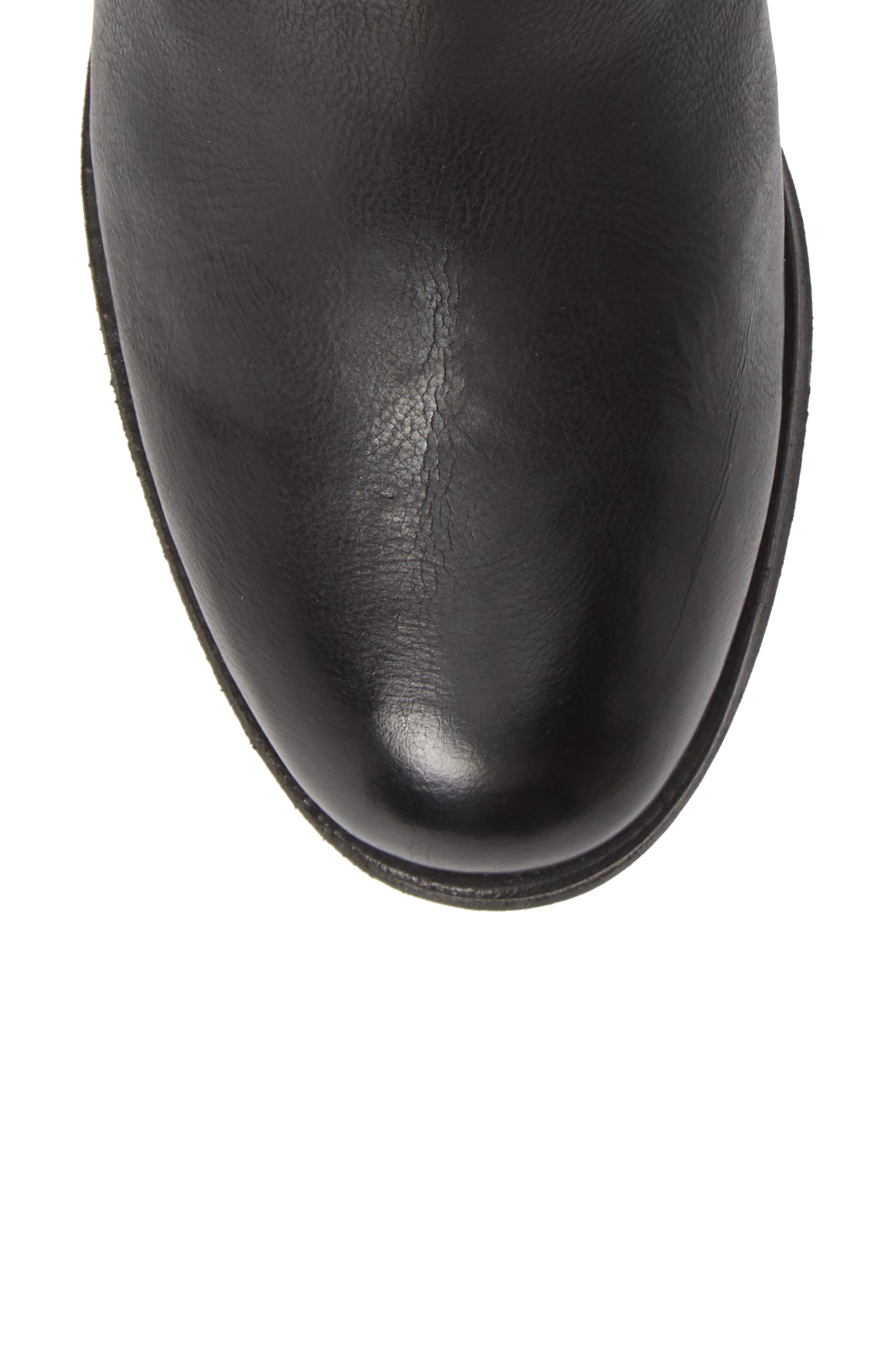 Maypearl Fawn Bootie,                             Alternate thumbnail 5, color,                             BLACK LEATHER