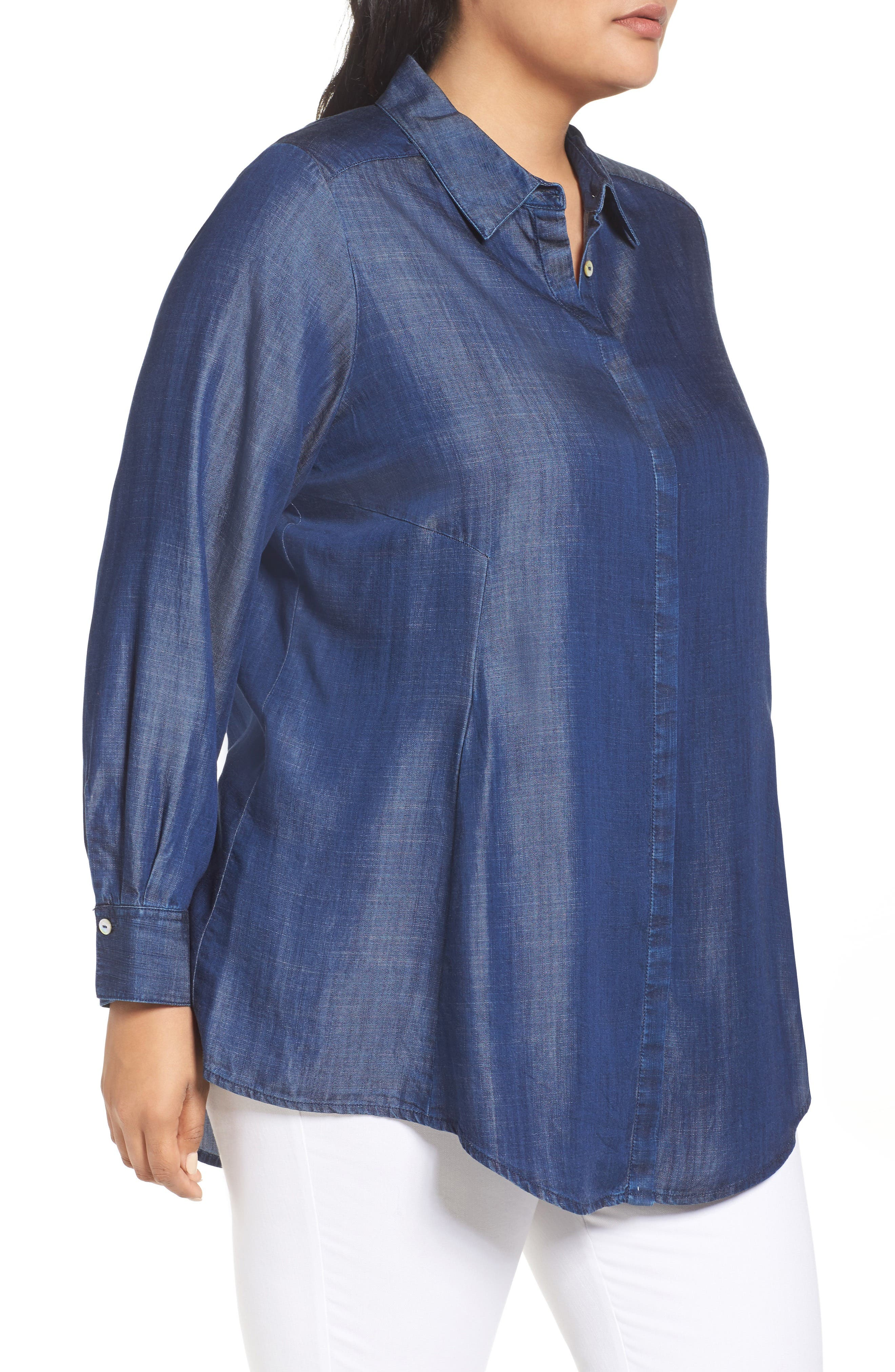 Chambray Tunic,                             Alternate thumbnail 8, color,