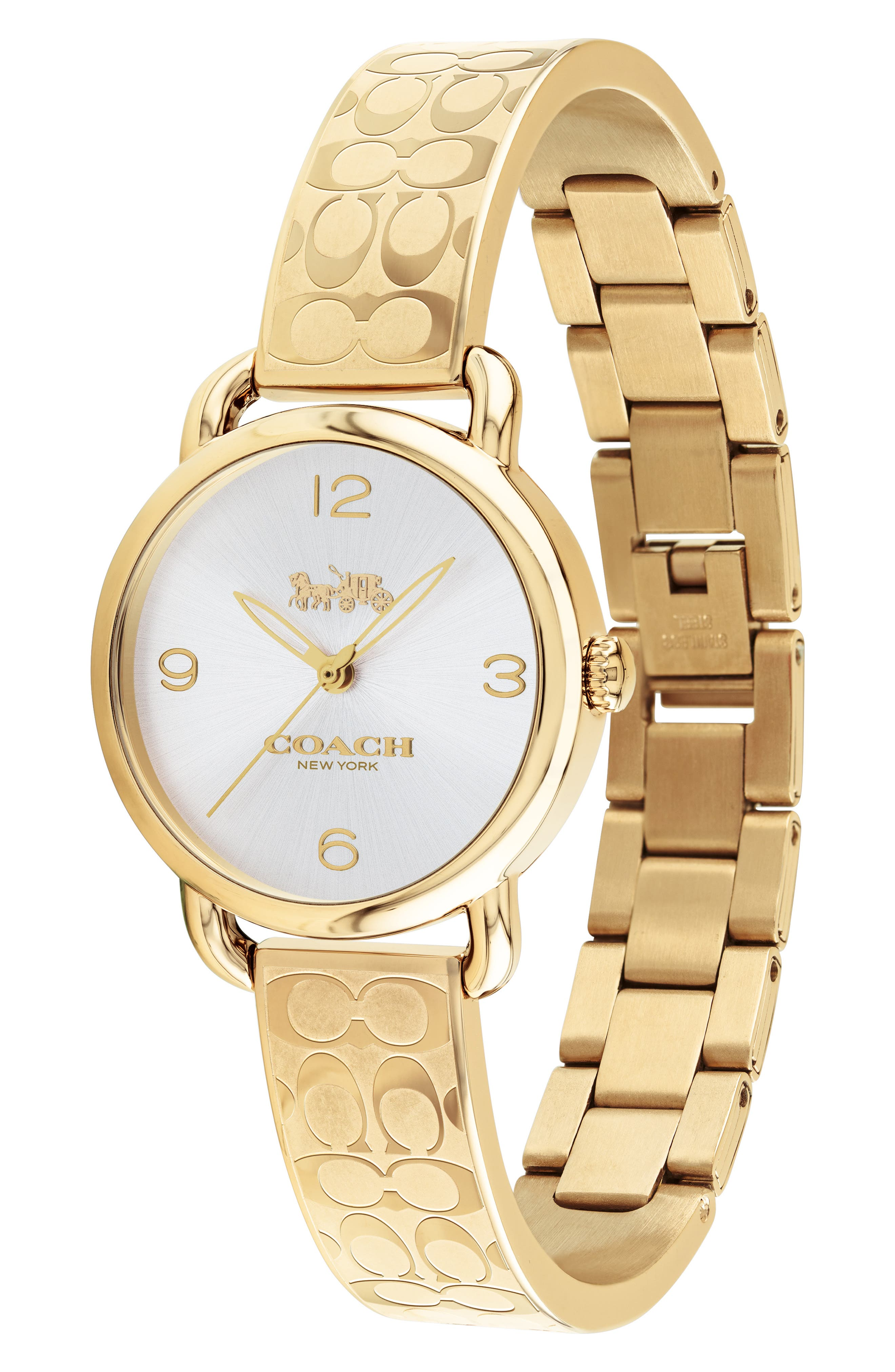 Delancey Bracelet Watch, 28mm,                             Alternate thumbnail 3, color,                             GOLD/ SILVER/ GOLD