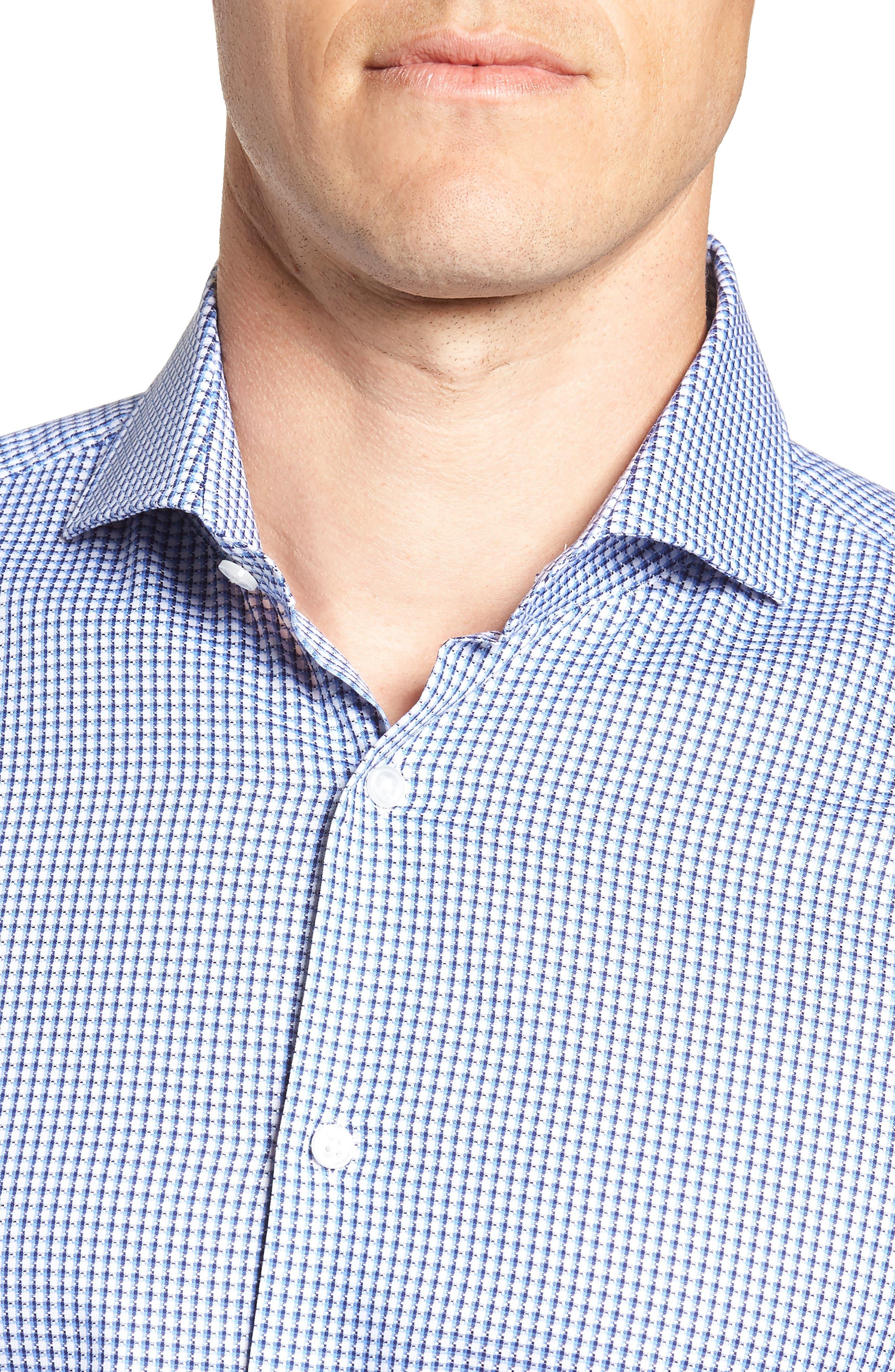 Mark Sharp Fit Check Dress Shirt,                             Alternate thumbnail 2, color,                             BLUE