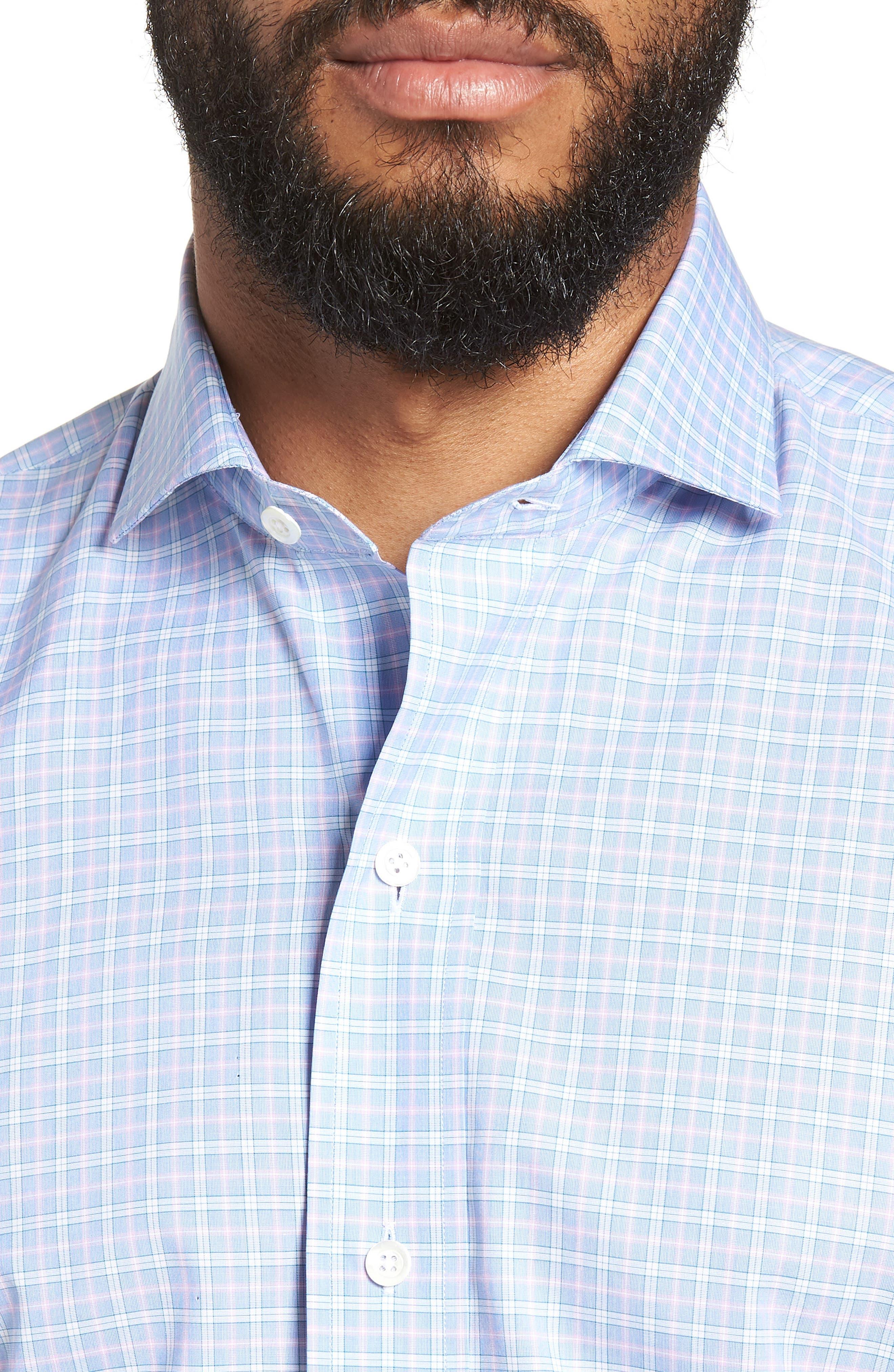 Ferris Slim Fit Check Dress Shirt,                             Alternate thumbnail 2, color,                             LIGHT/ PASTEL BLUE
