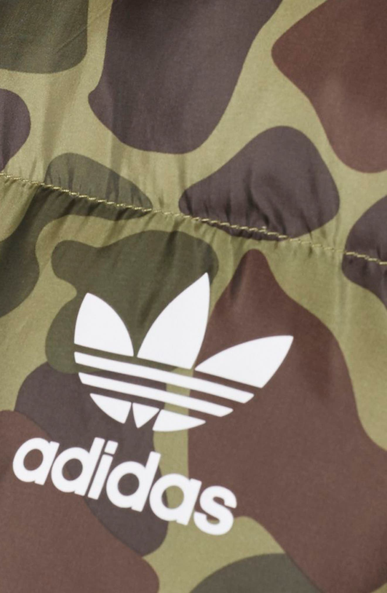 Originals by Pharrell Williams Hu Hiking Camo Jacket,                             Alternate thumbnail 5, color,                             300