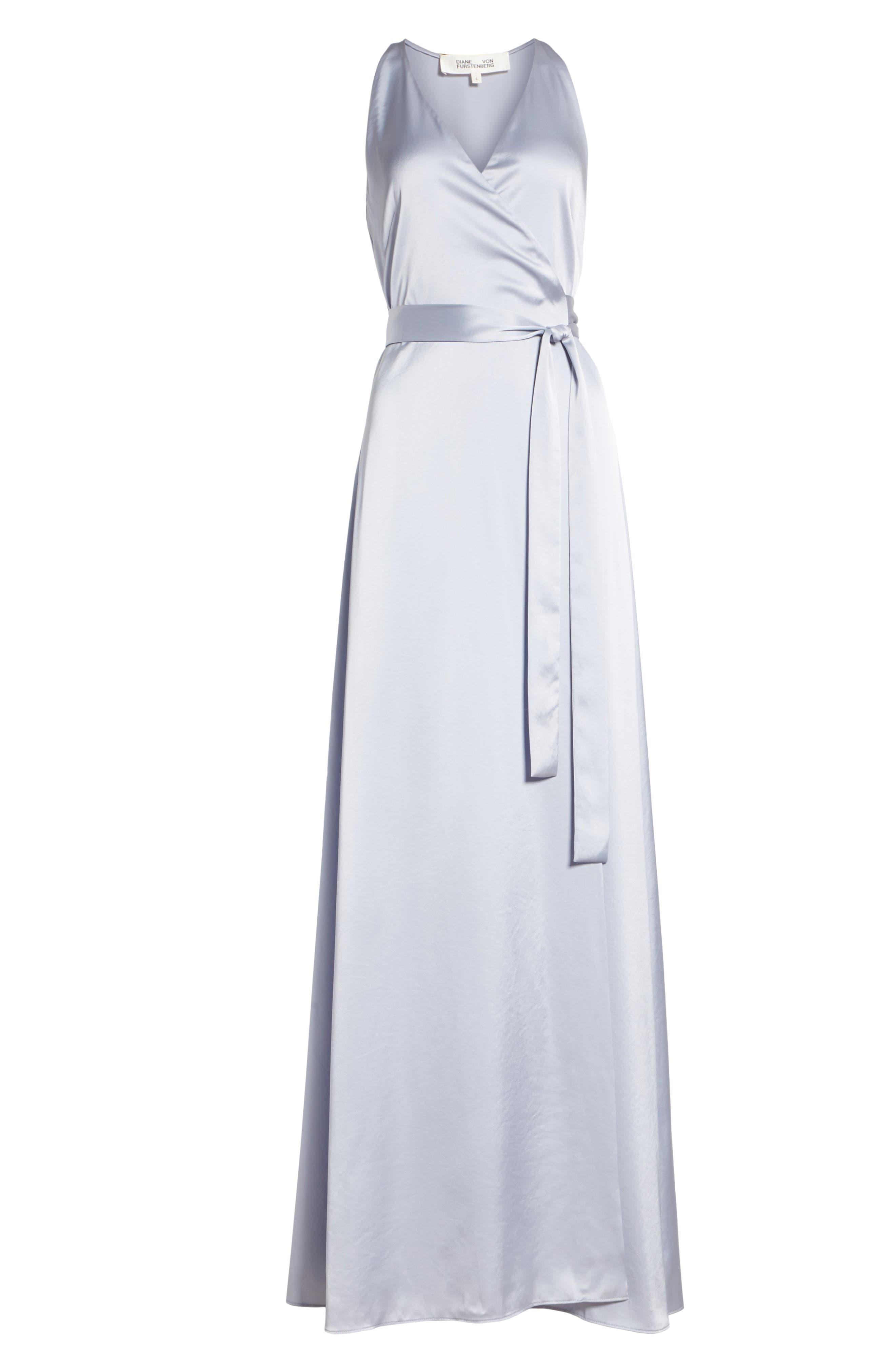 Diane von Furstenberg Wrap Gown,                             Alternate thumbnail 6, color,                             031