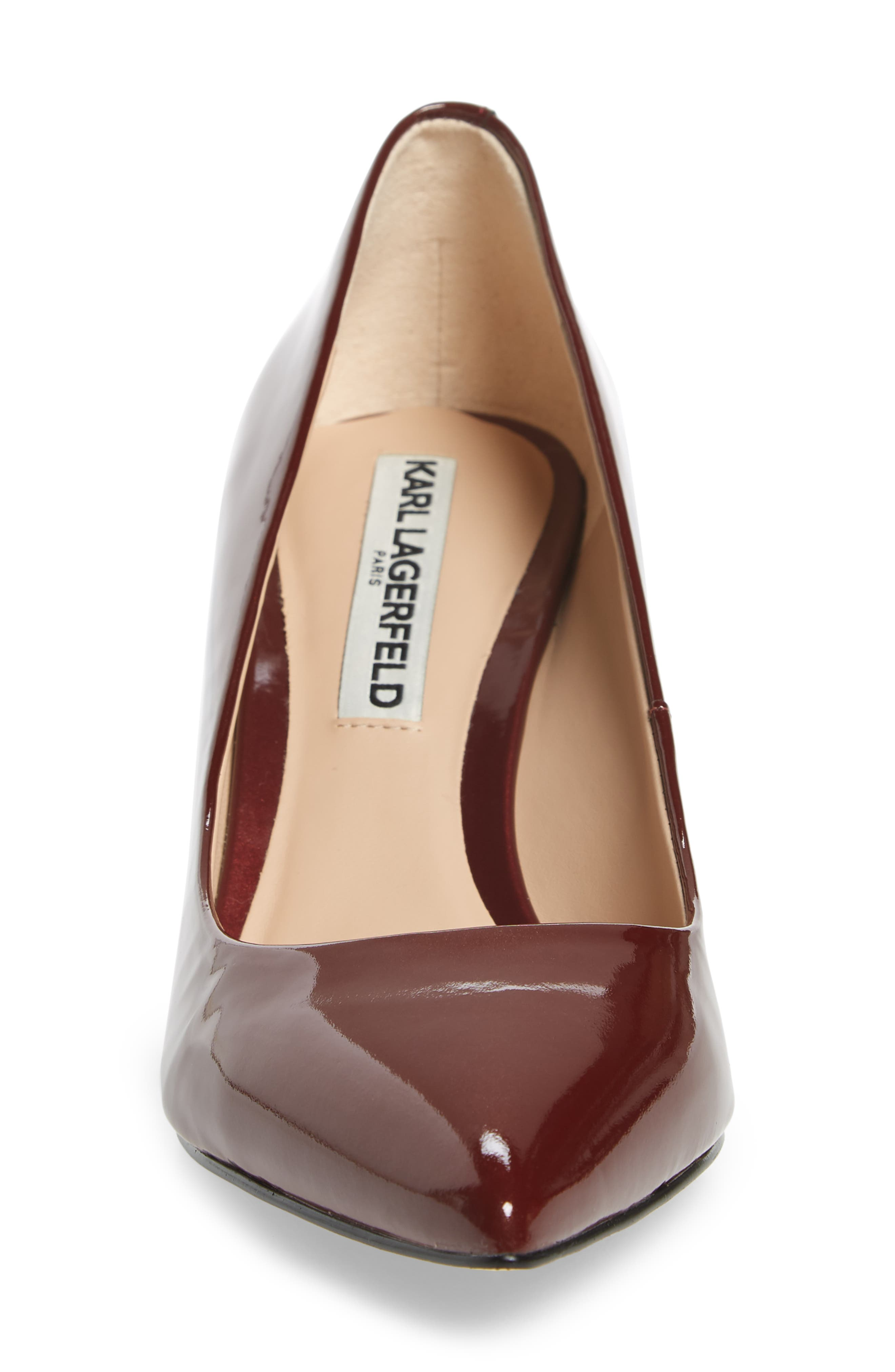 Addie Pump,                             Alternate thumbnail 4, color,                             BURGUNDY PATENT LEATHER