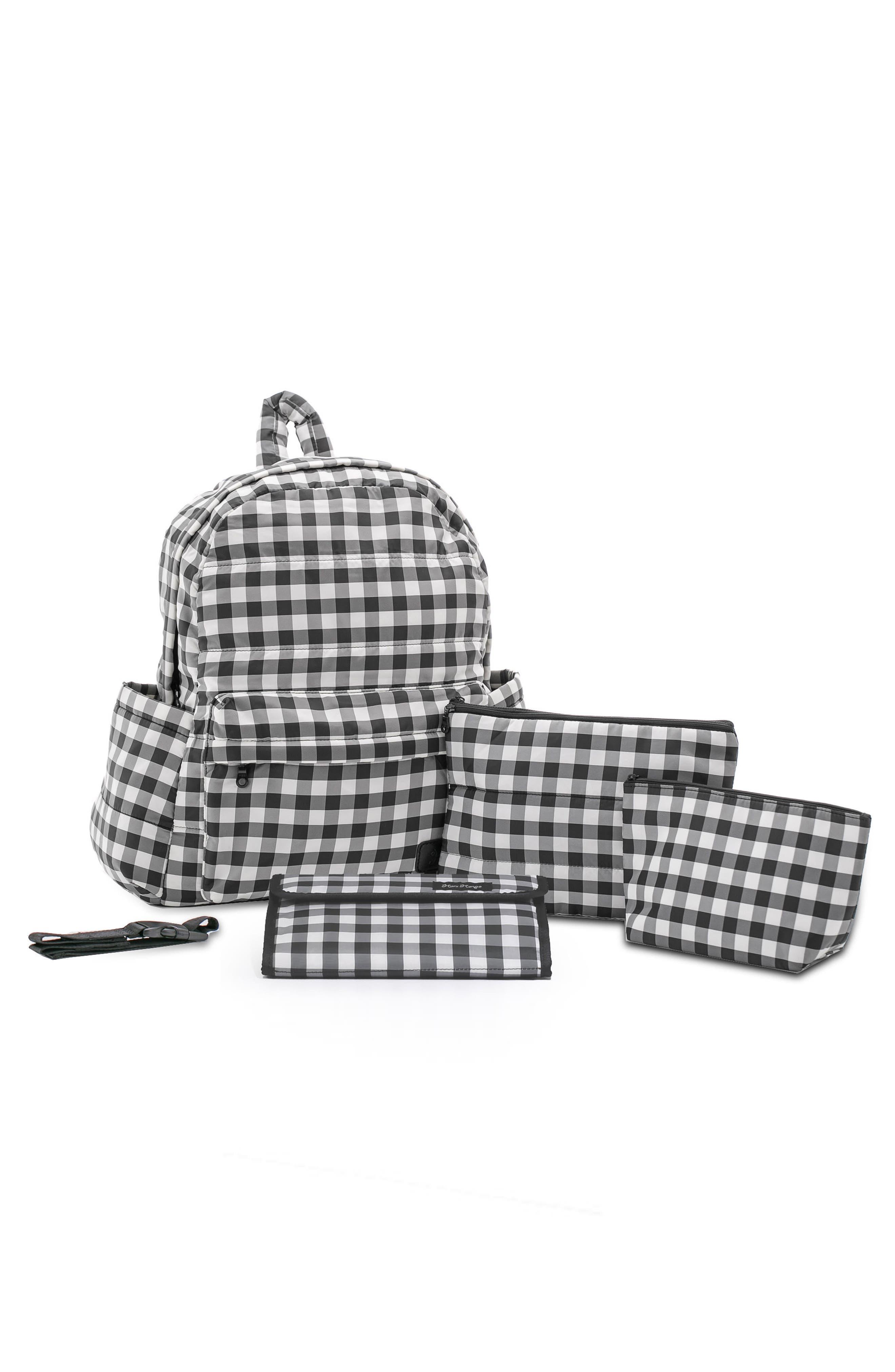 Print Water Repellent Diaper Backpack,                             Alternate thumbnail 2, color,                             002
