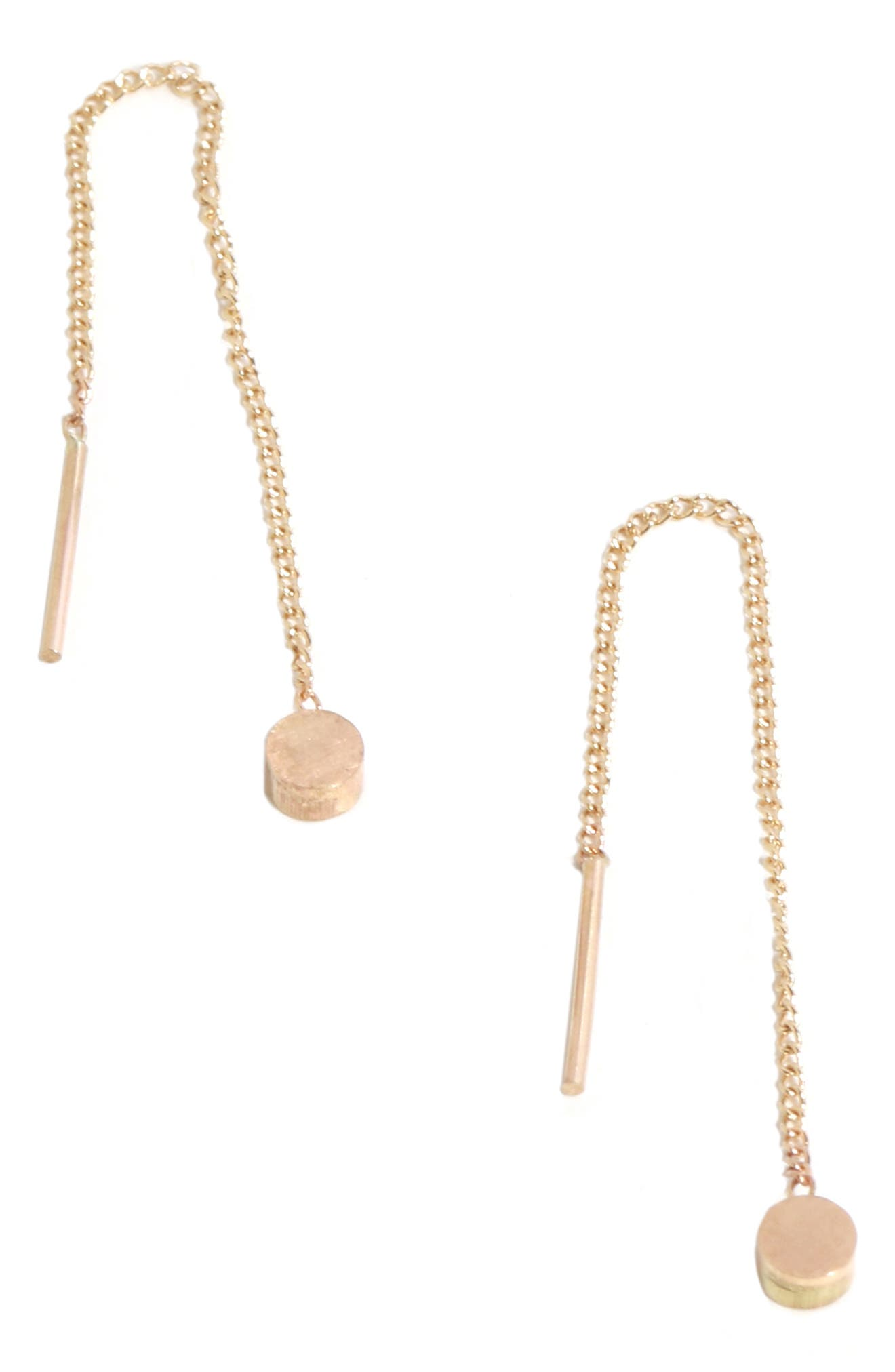 MELISSA JOY MANNING Chain Earrings in Yellow Gold