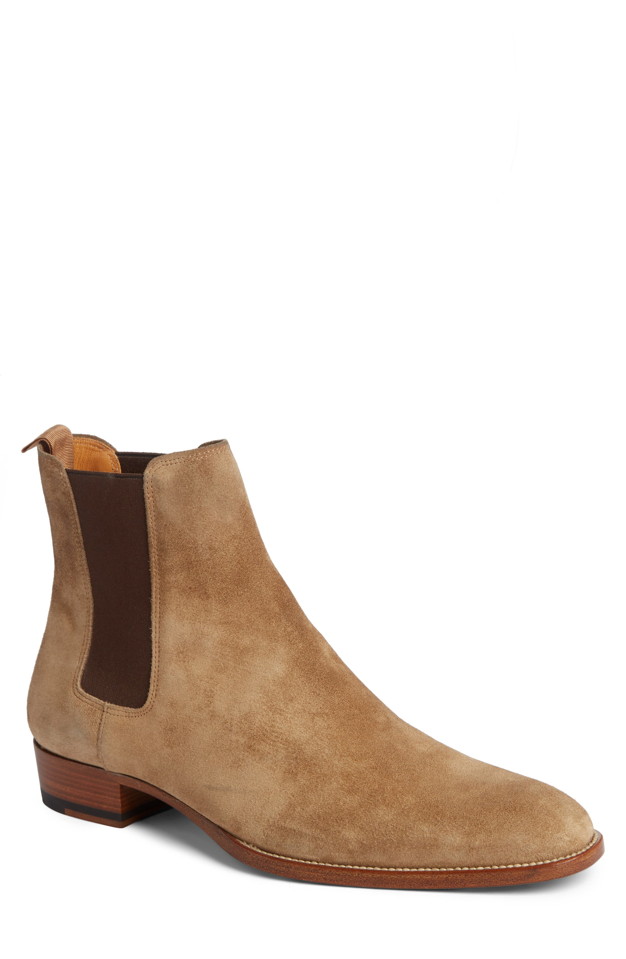 Wyatt Chelsea Boot,                             Main thumbnail 1, color,                             SIGARO SUEDE
