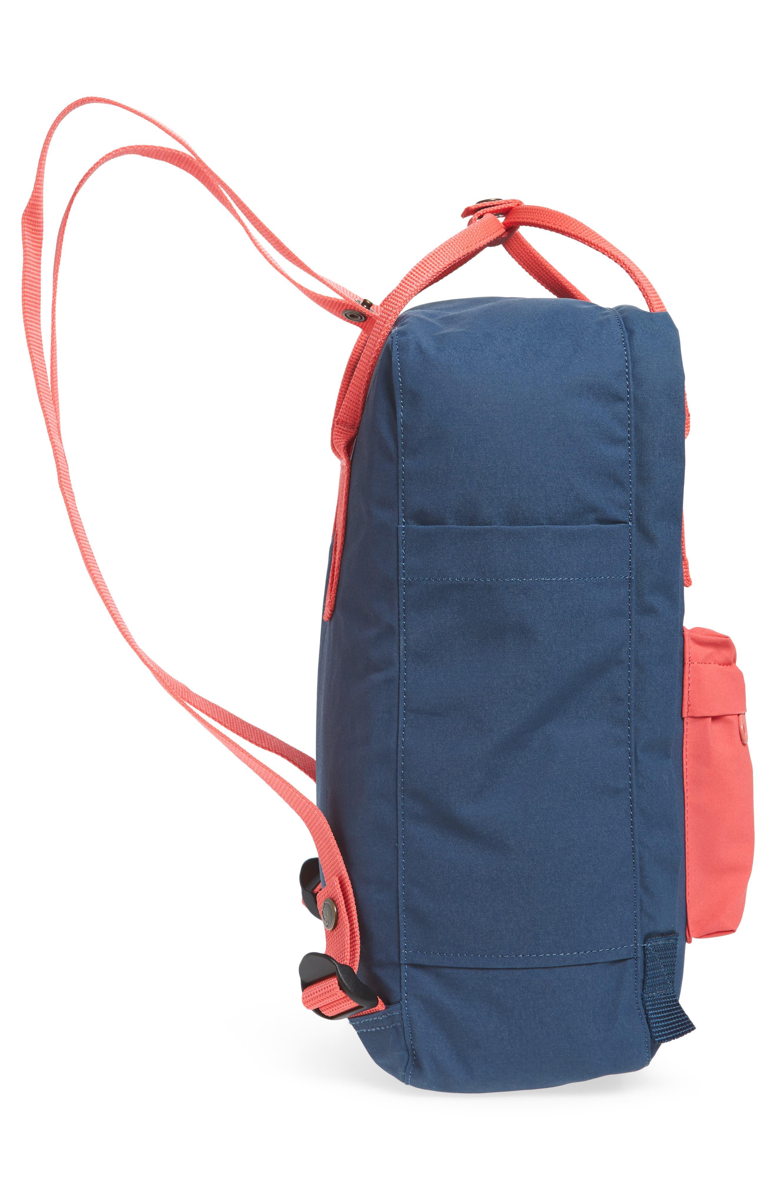 Arctic Fox Kånken Backpack,                             Alternate thumbnail 5, color,                             ROYAL BLUE/ PEACH PINK