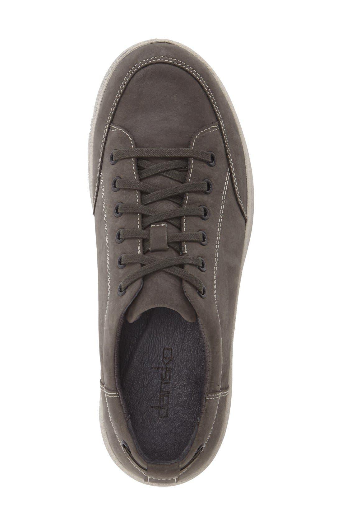 'Vaughn' Water-Resistant Sneaker,                             Alternate thumbnail 3, color,                             GREY MILLED NUBUCK LEATHER