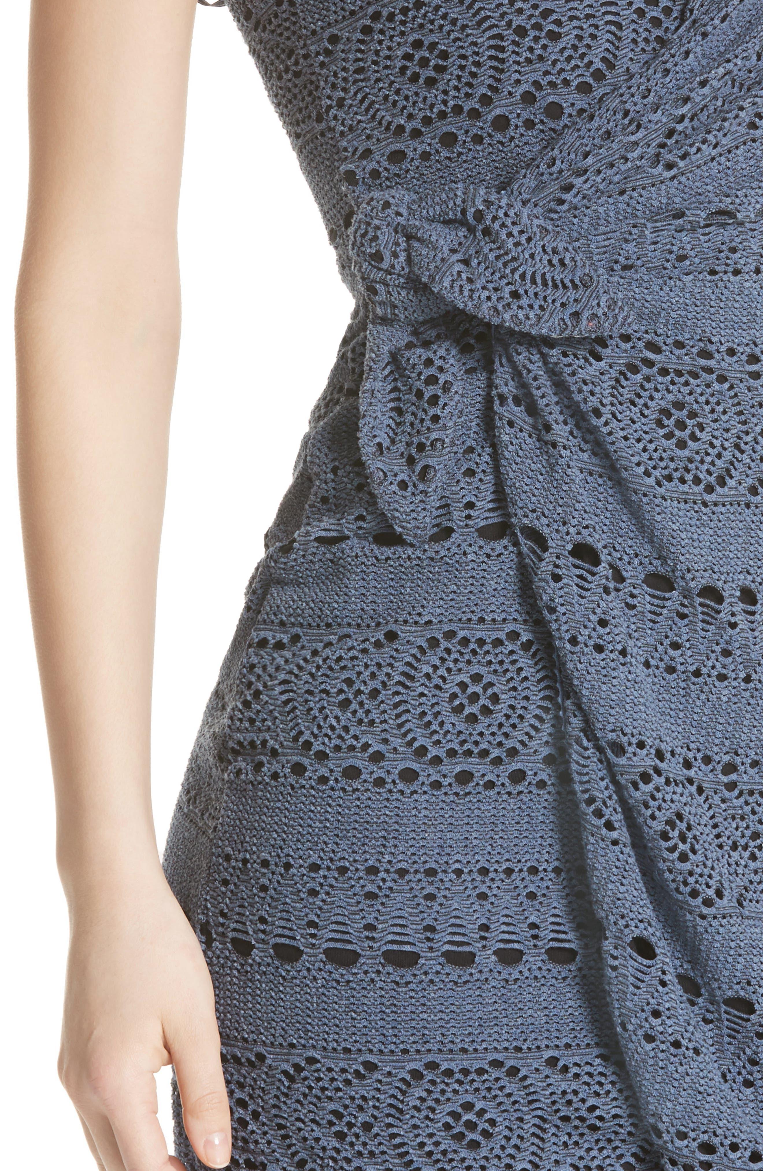 Oceanside Crochet Strapless Minidress,                             Alternate thumbnail 7, color,
