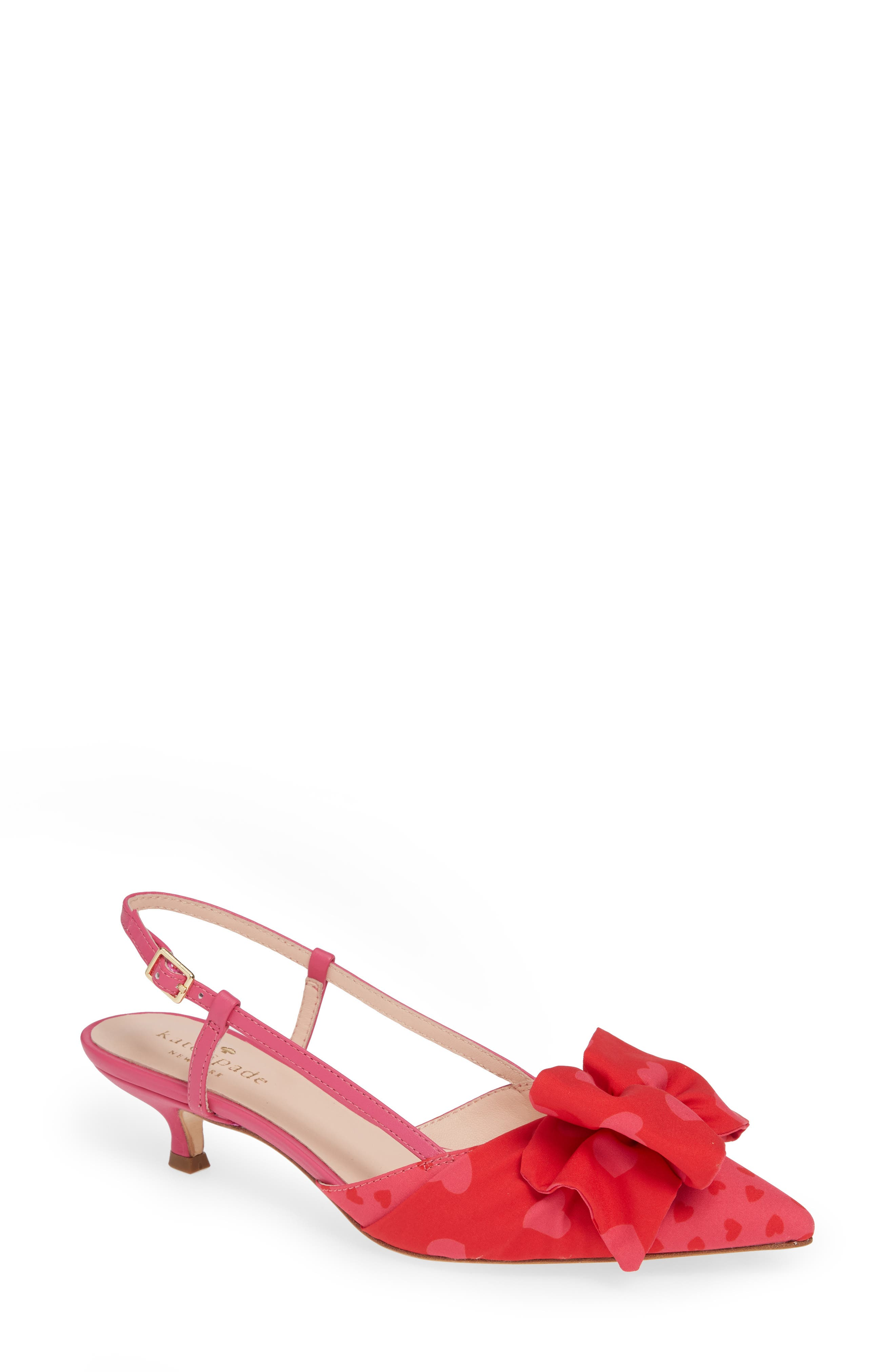 daxton slingback pump,                         Main,                         color, BEGONIA/ ENGINE RED HEART