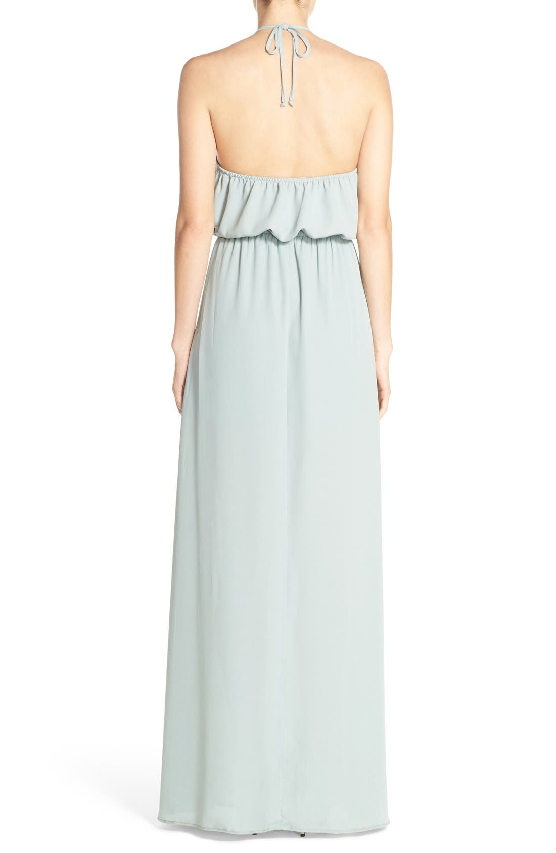 Heather Chiffon Halter Gown,                             Alternate thumbnail 27, color,