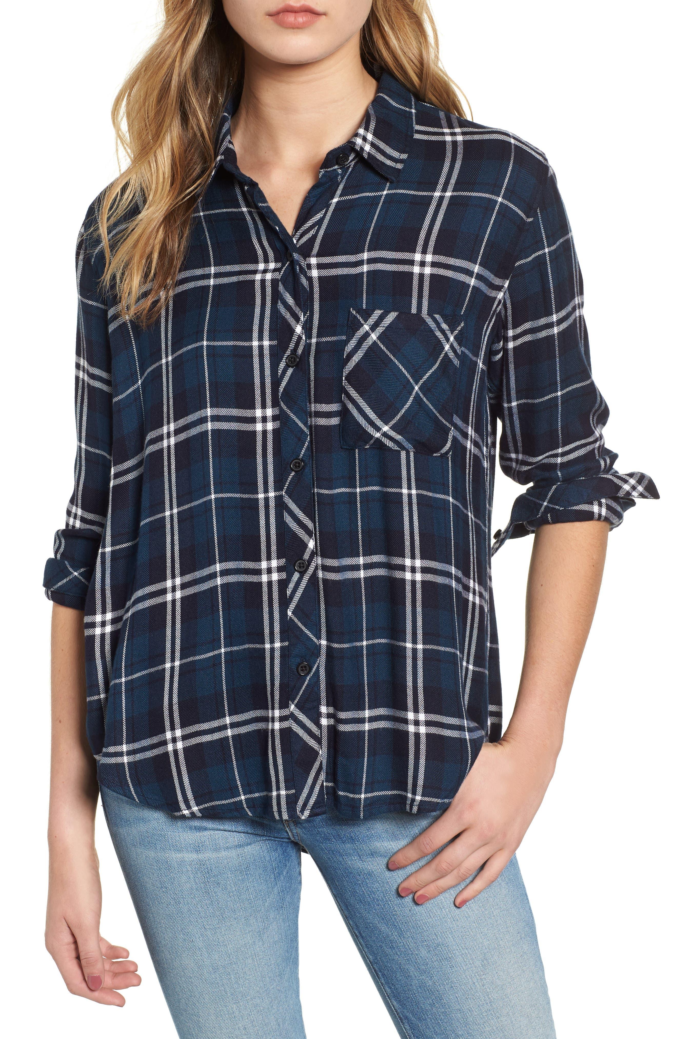 Hunter Plaid Shirt,                             Main thumbnail 56, color,