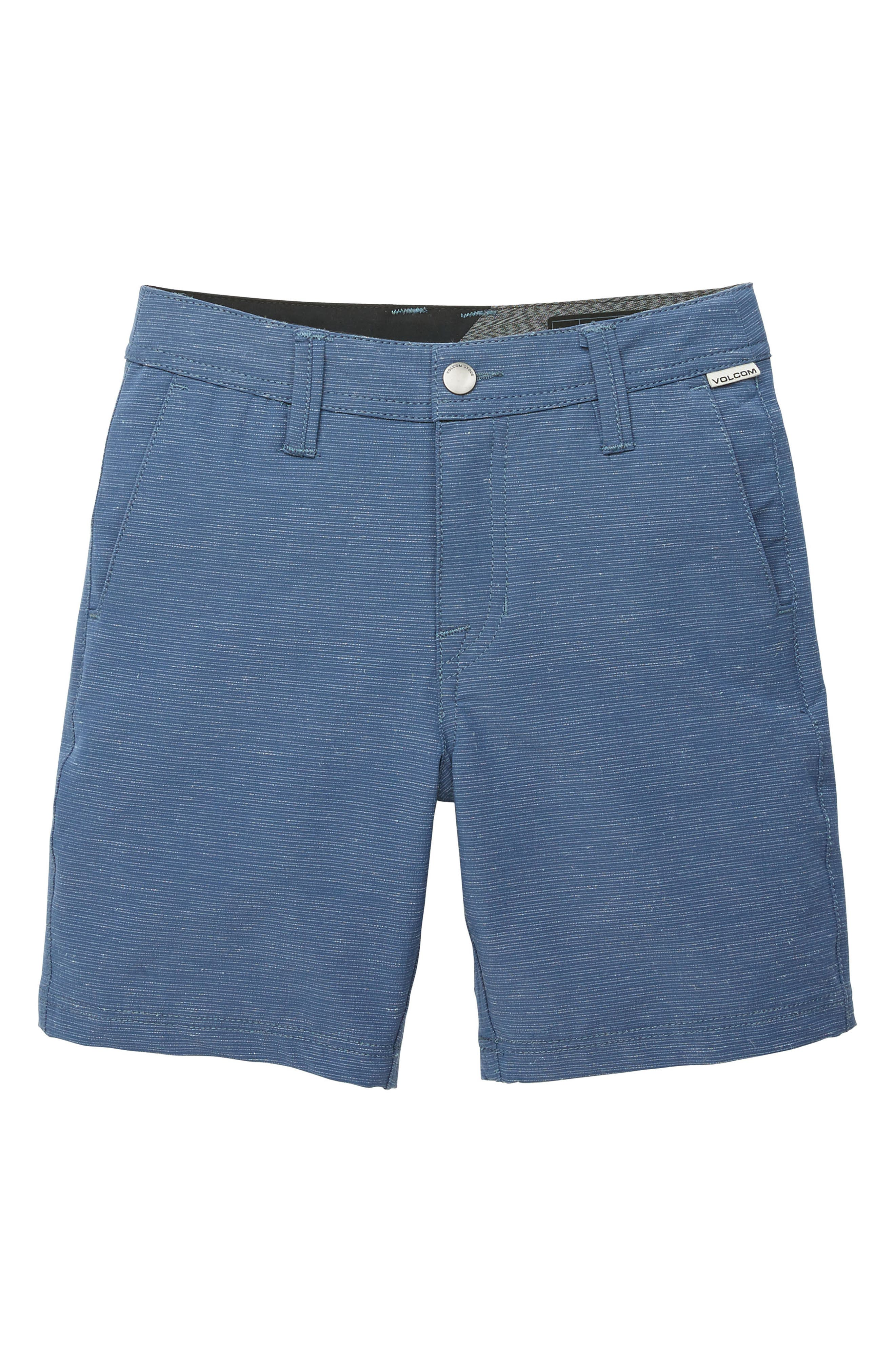 Surf N' Turf Slub Hybrid Shorts,                             Main thumbnail 1, color,                             DEEP WATER