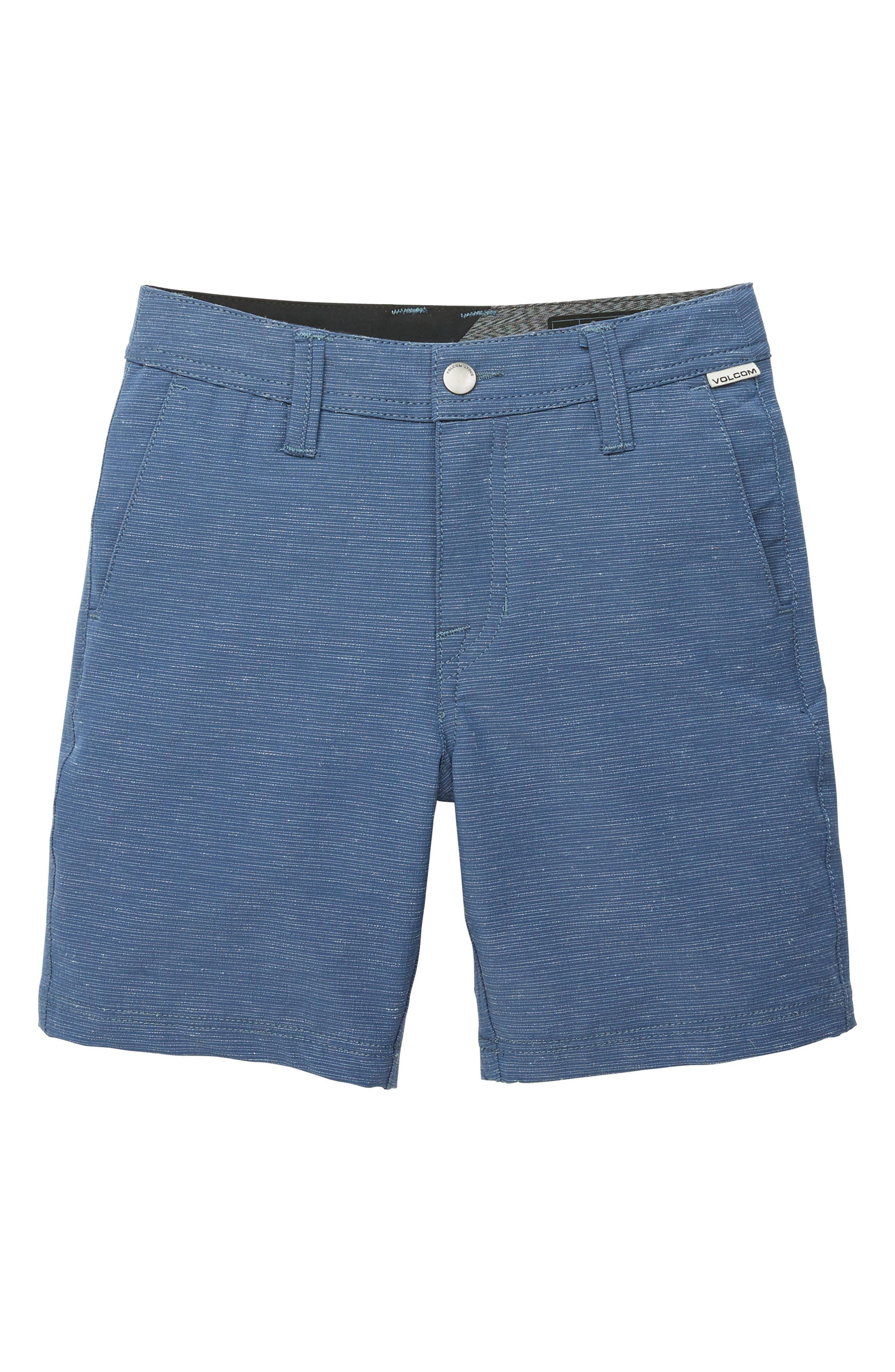 Surf N' Turf Slub Hybrid Shorts,                         Main,                         color, DEEP WATER