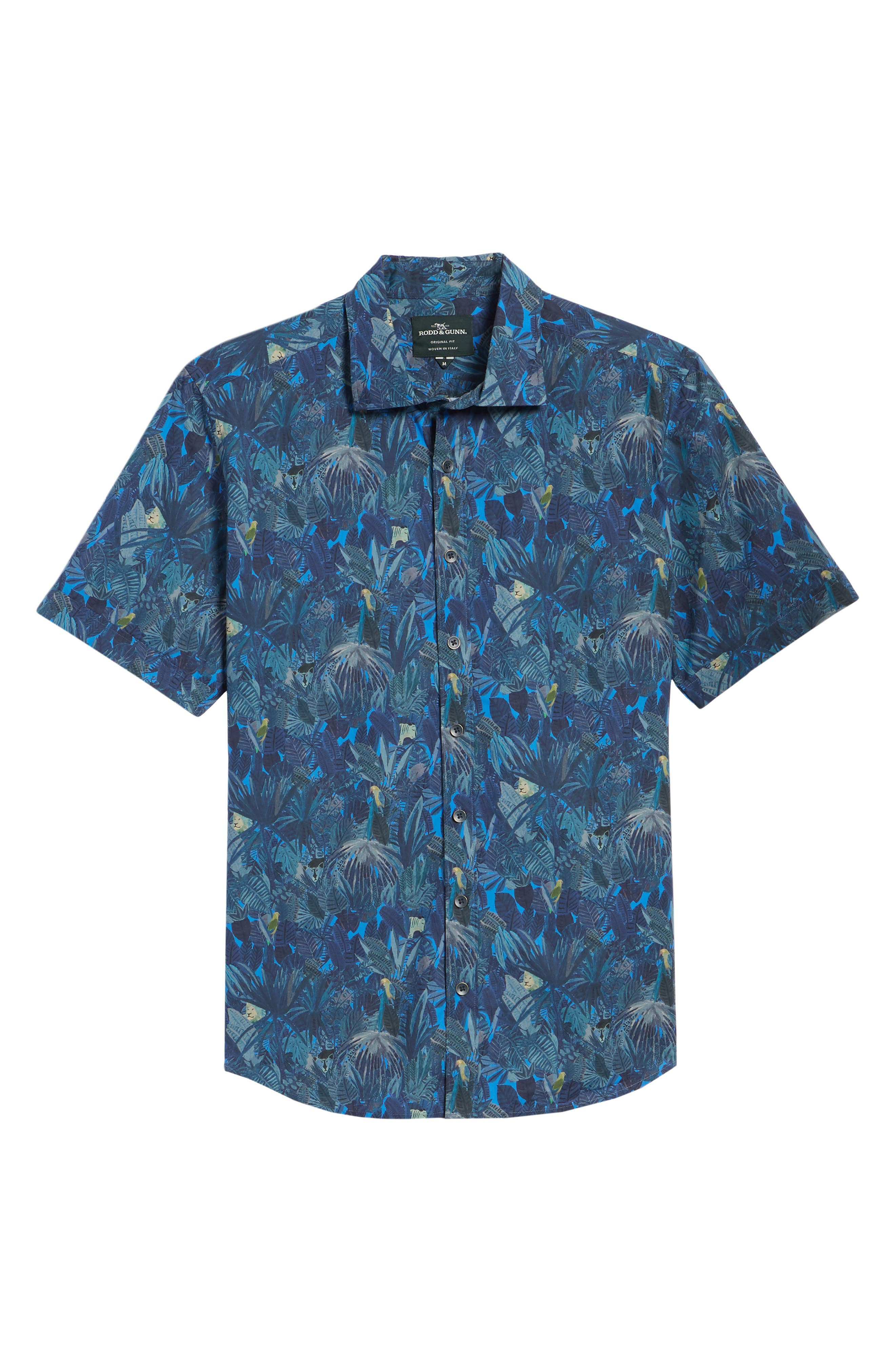 Chedworth Slim Fit Print Sport Shirt,                             Alternate thumbnail 6, color,                             343