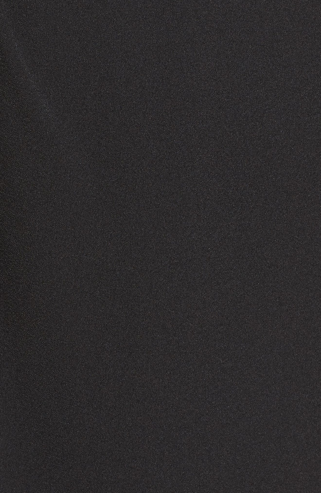 Embellished Ruffle Sheath Dress,                             Alternate thumbnail 5, color,                             001
