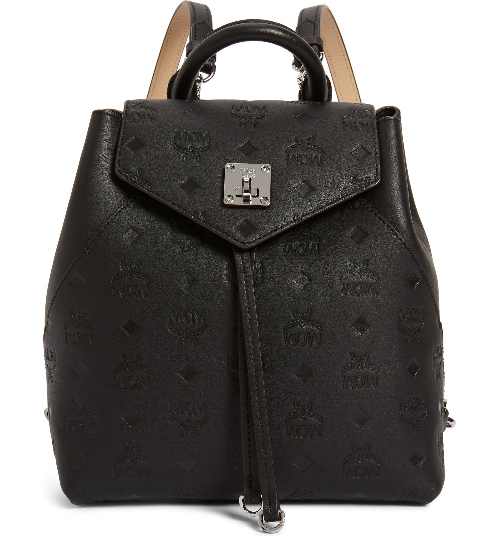 Mcm Essential Monogram Leather Small Backpack Nordstrom 859a77dad1185