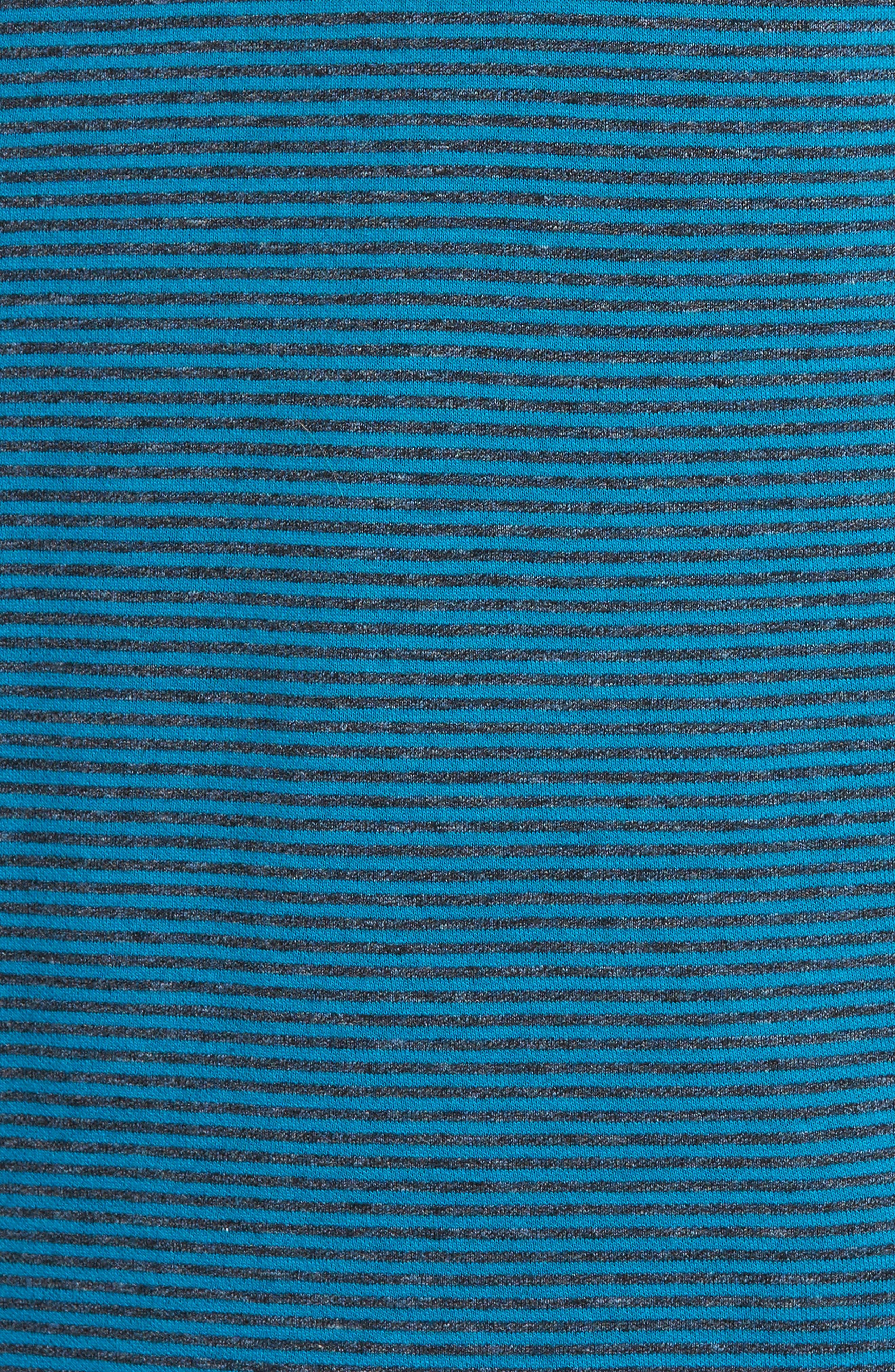 Classic Fit Striped Quarter Zip Pullover,                             Alternate thumbnail 5, color,                             445