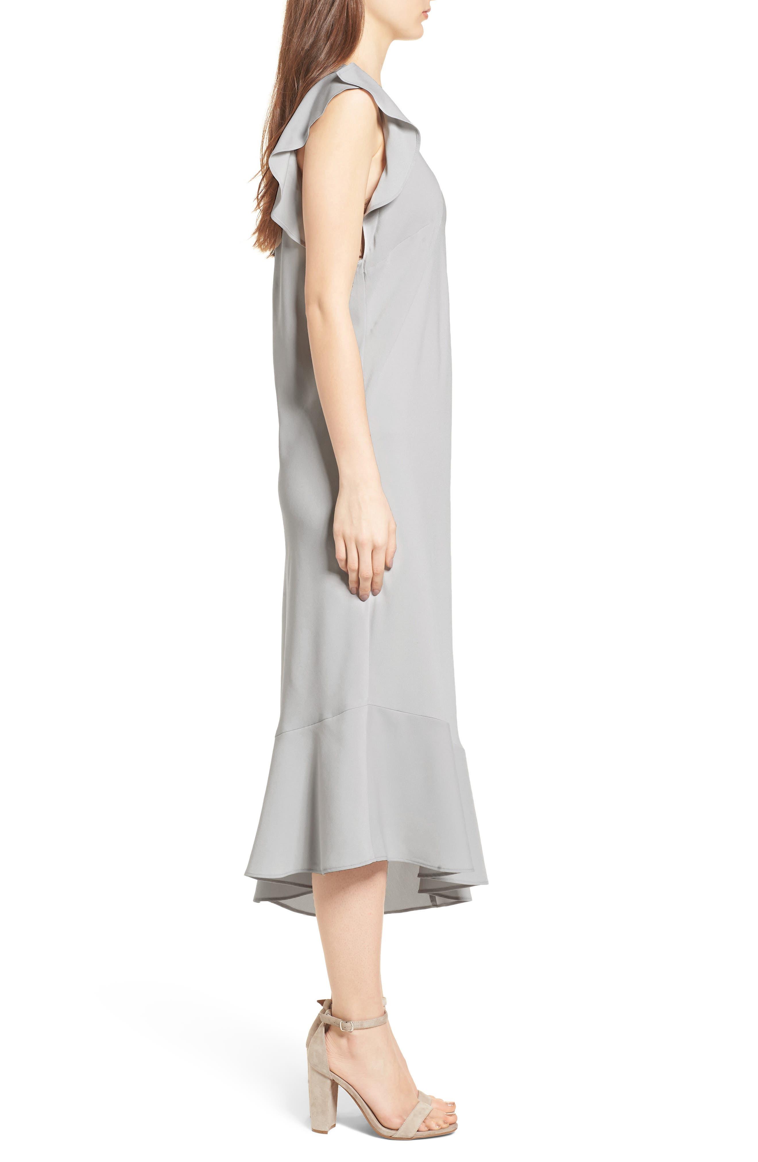 Bias Cut Asymmetrical Dress,                             Alternate thumbnail 3, color,