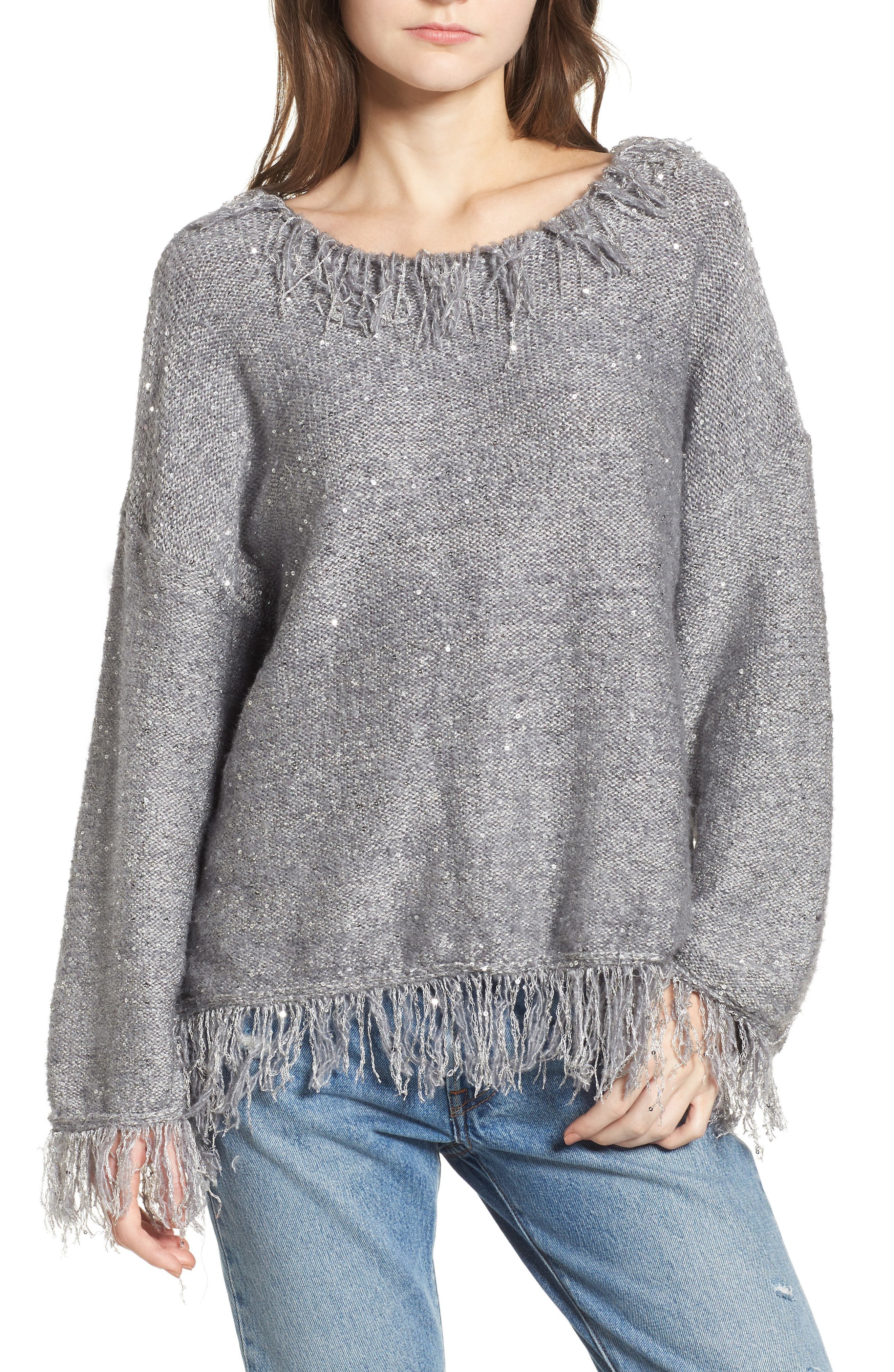 Savannah Frayed Sweater,                             Main thumbnail 1, color,                             020