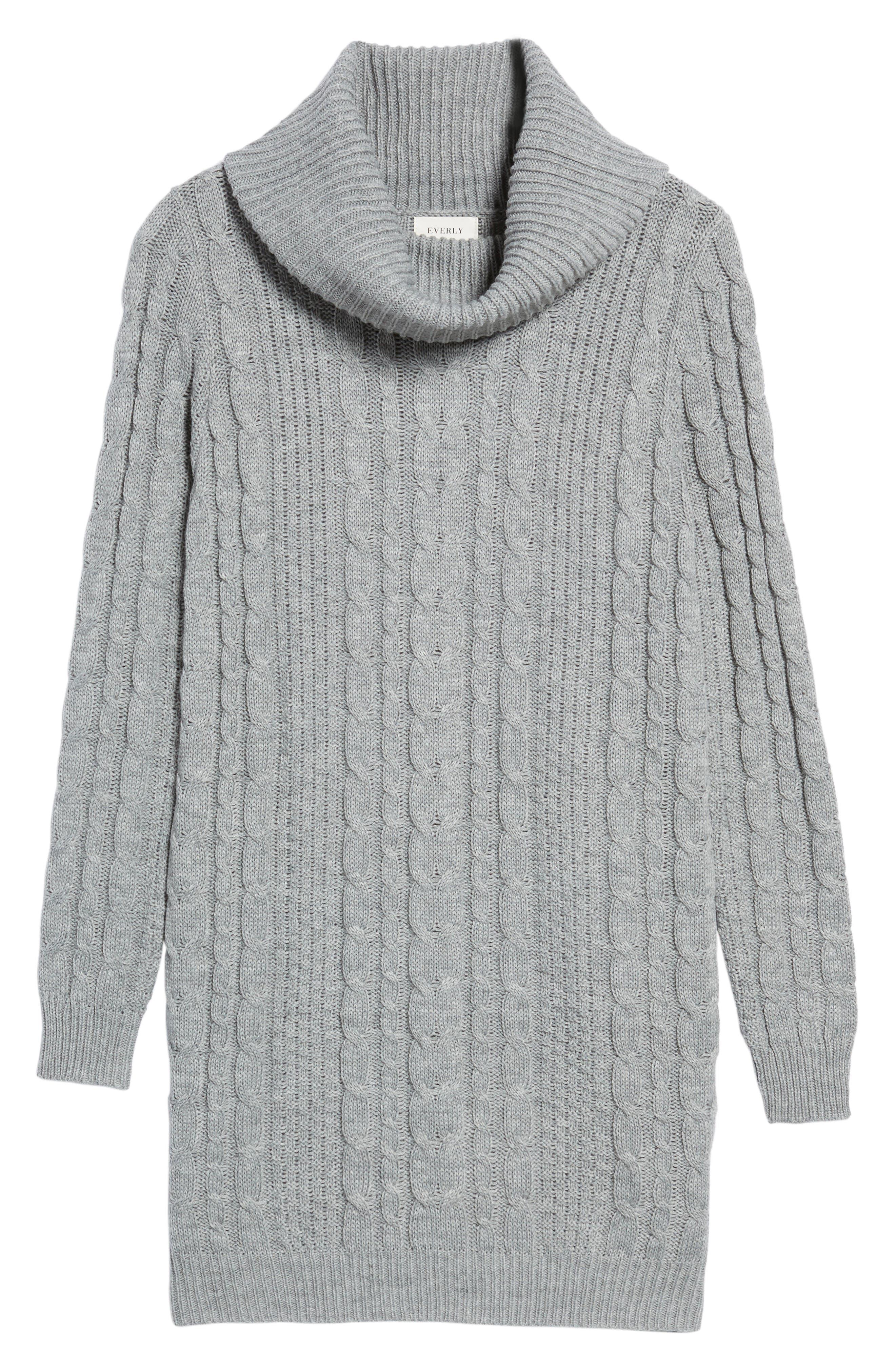 Cowl Neck Sweater Dress,                             Alternate thumbnail 6, color,                             020