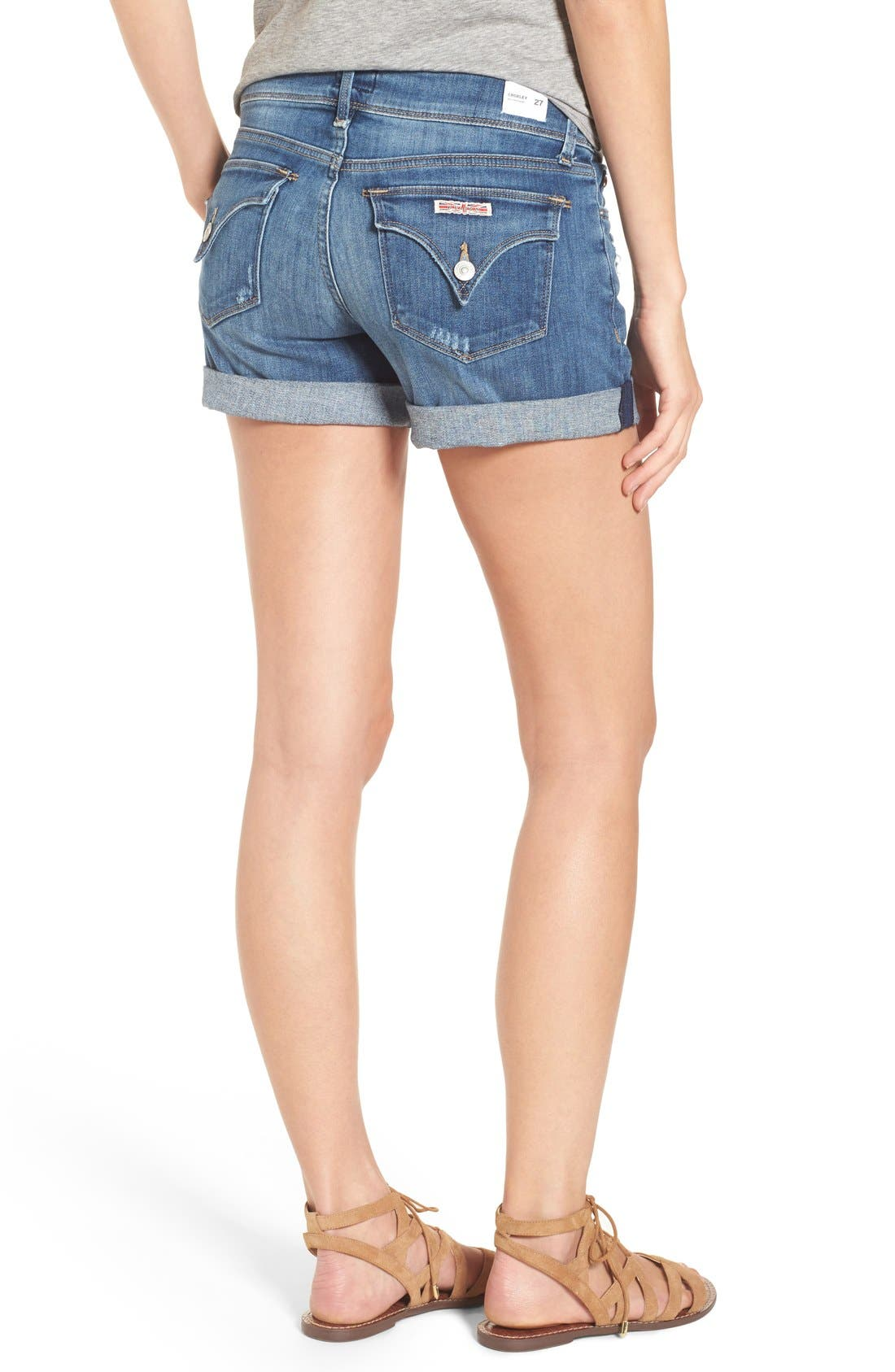 'Croxley' Cuffed Denim Shorts,                             Alternate thumbnail 27, color,