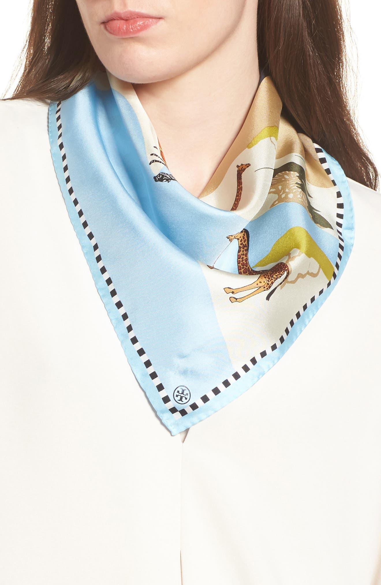 Safari Silk Neckerchief,                         Main,                         color, 405
