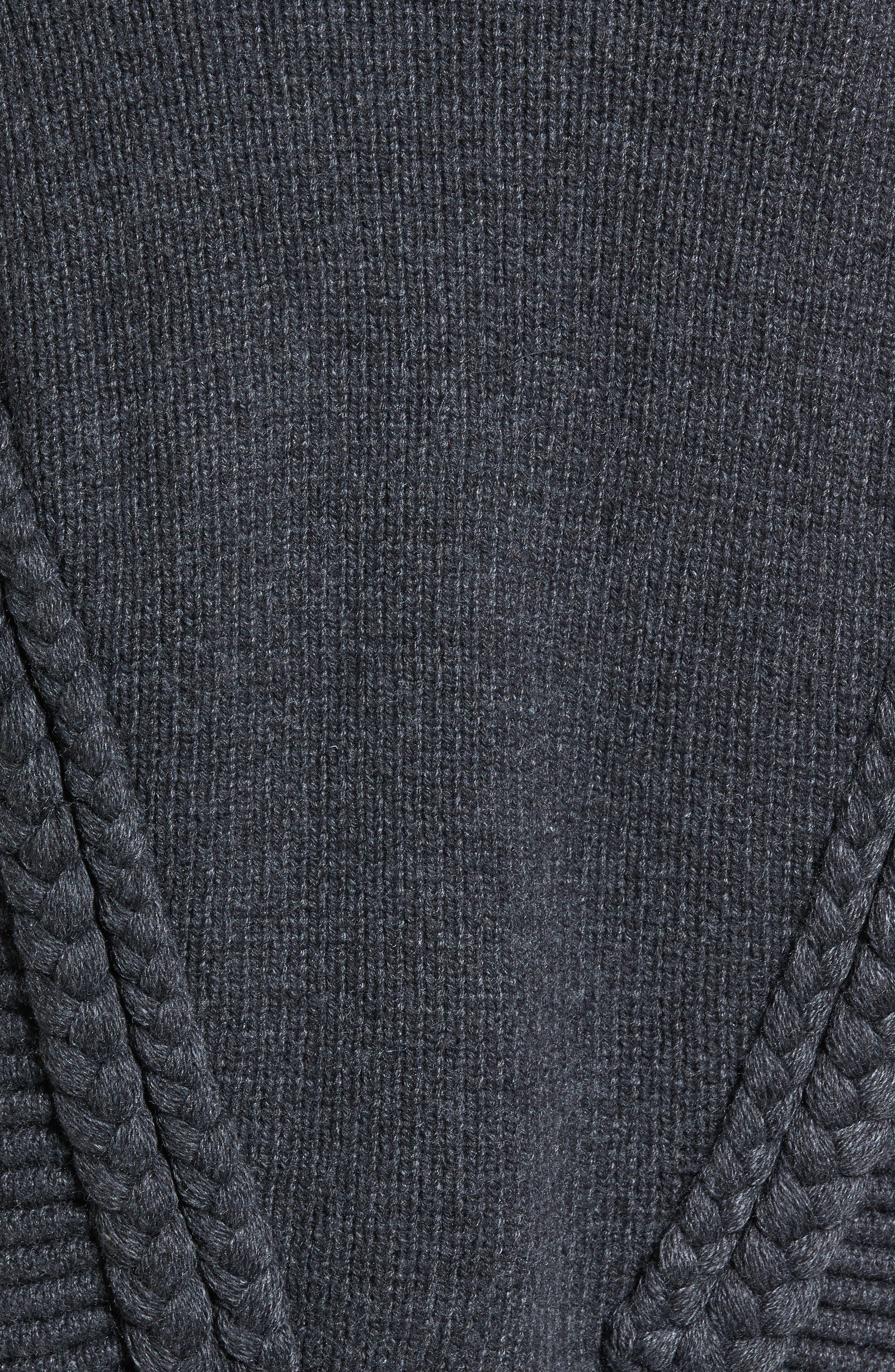 Cable Detail Cardigan,                             Alternate thumbnail 5, color,                             020