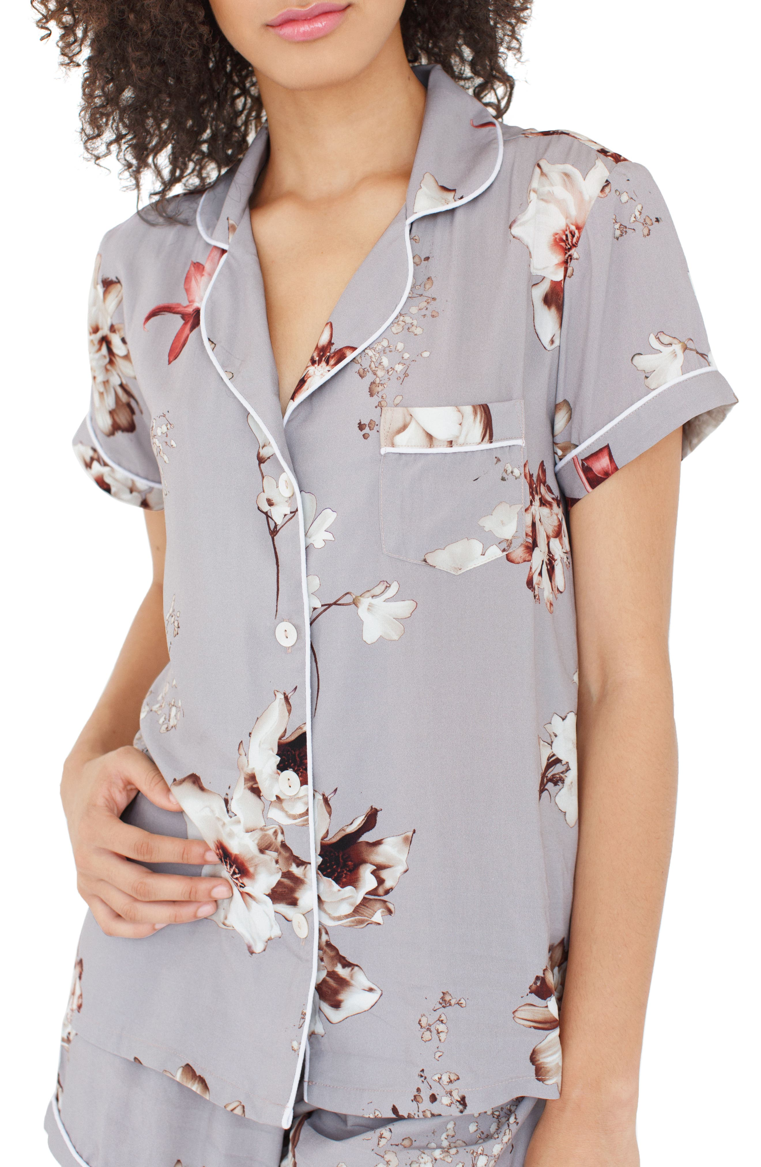 Floral Short Pajamas,                             Alternate thumbnail 2, color,                             530