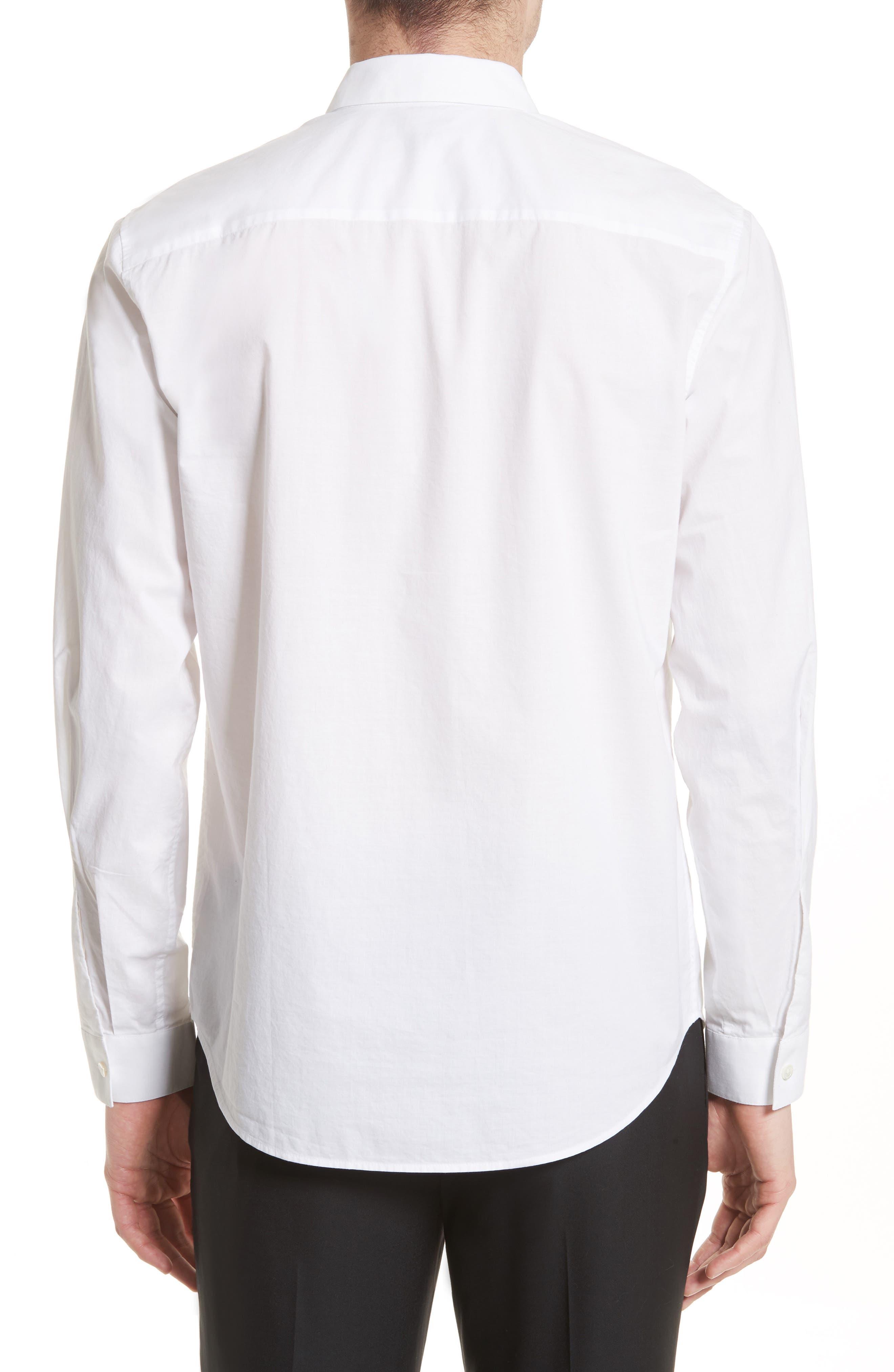 Cotton Dress Shirt,                             Alternate thumbnail 4, color,