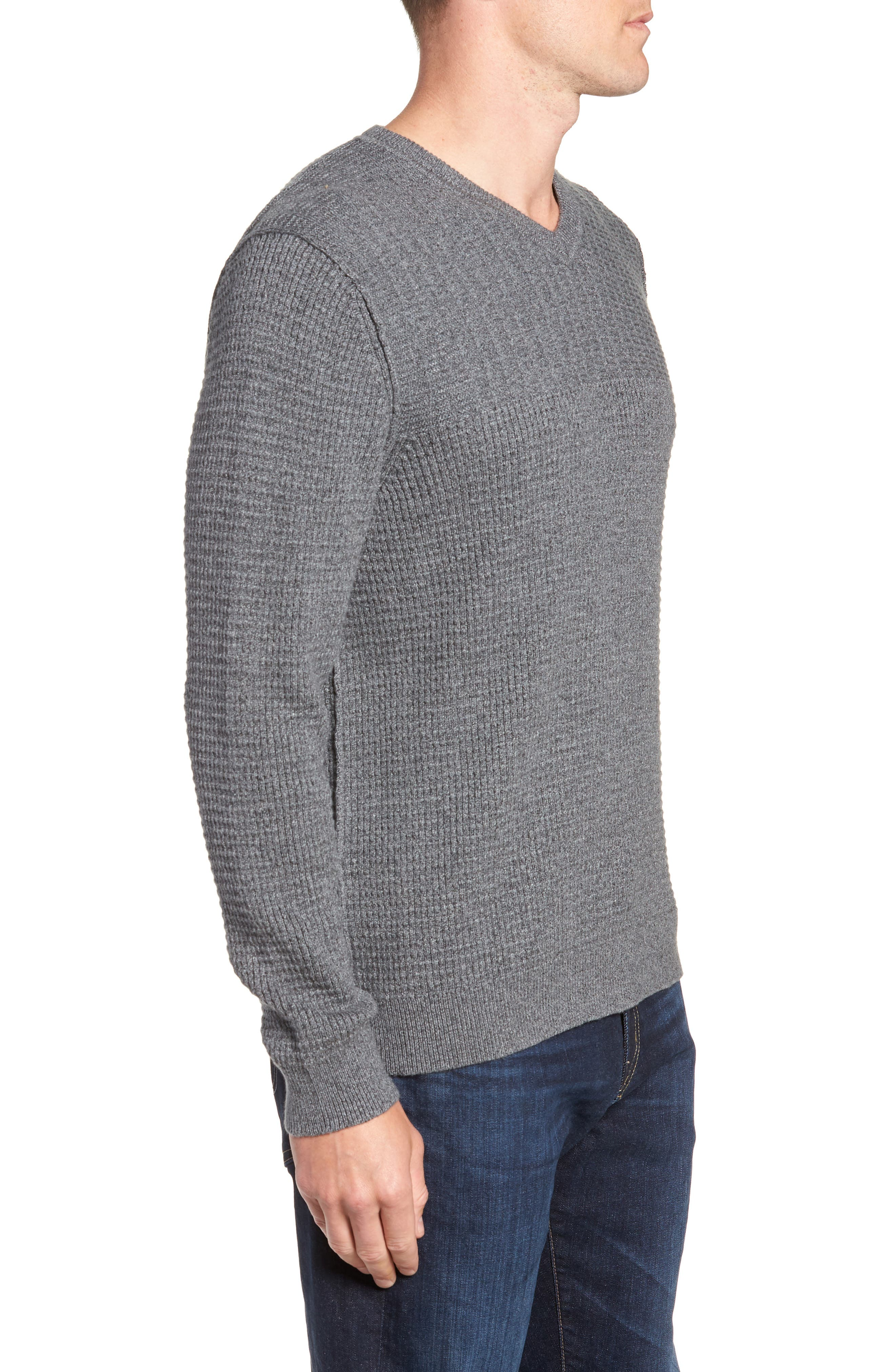 Isidro V-Neck Regular Fit Sweater,                             Alternate thumbnail 3, color,                             CAVE