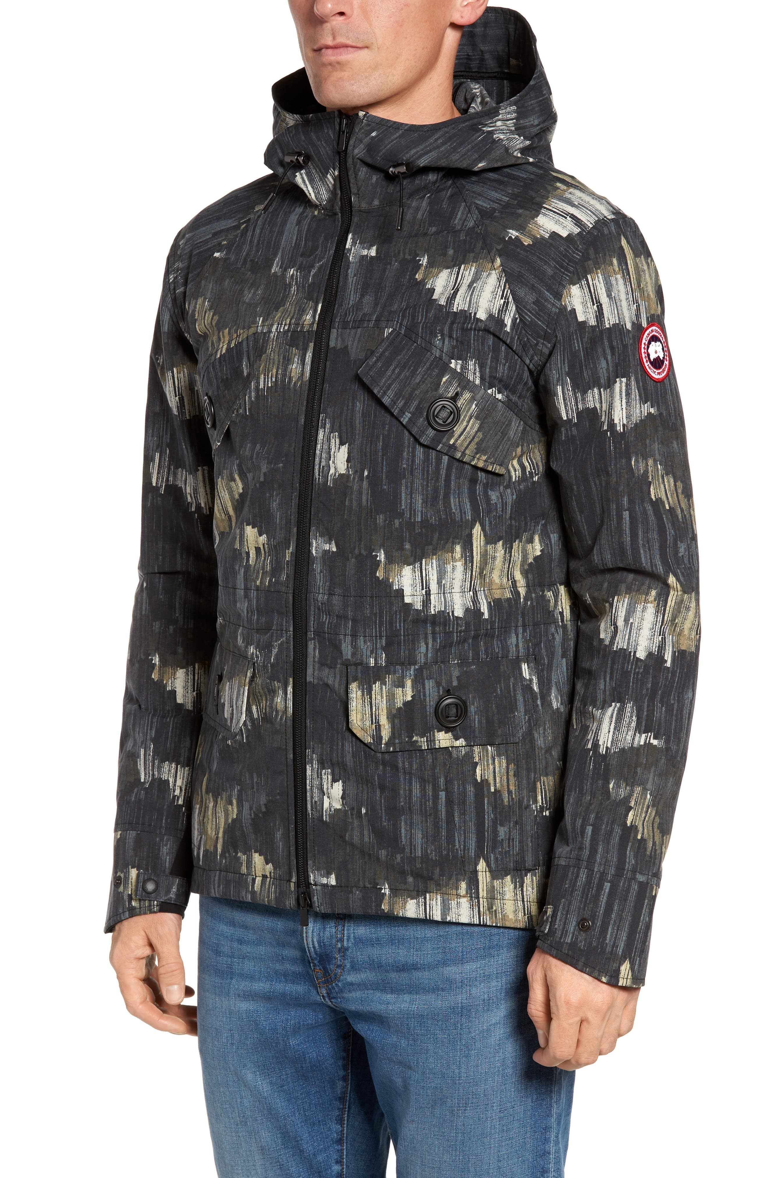 Redstone Slim Fit Hooded Jacket,                         Main,                         color, NOCTURNE PRINT