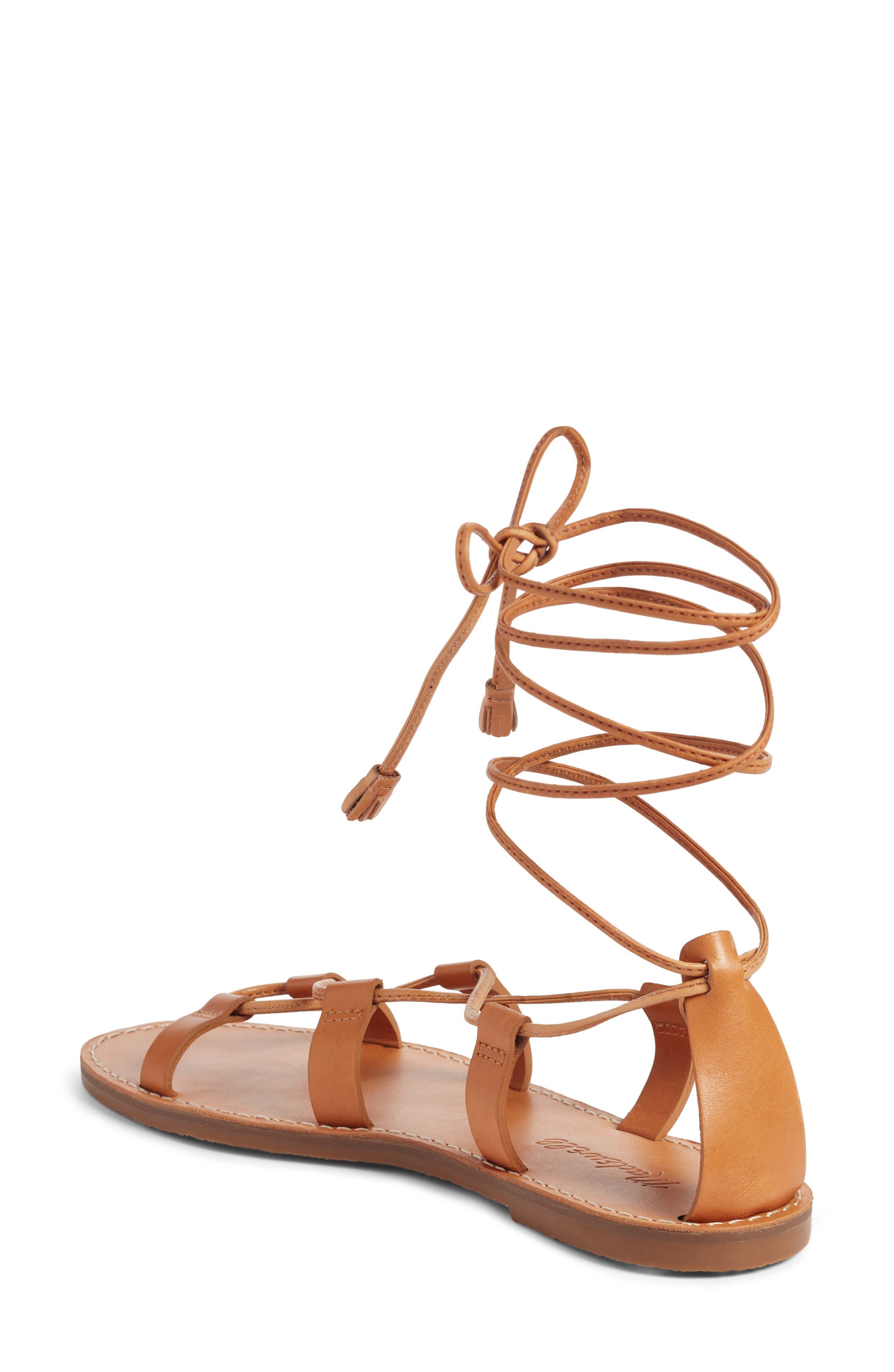 The Boardwalk Lace-Up Sandal,                             Alternate thumbnail 2, color,                             DESERT CAMEL LEATHER