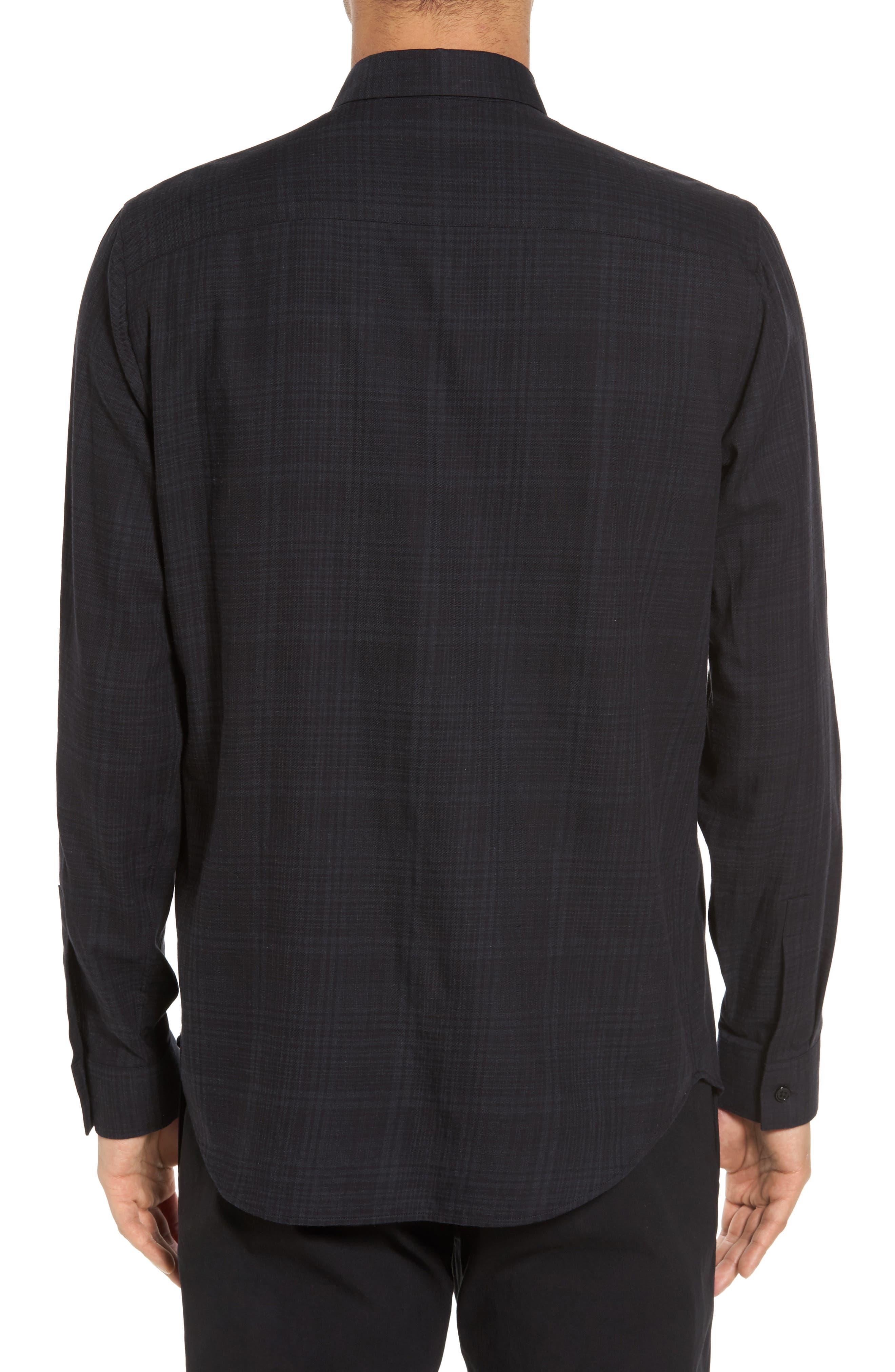 Trim Fit Plaid Sport Shirt,                             Alternate thumbnail 2, color,                             094