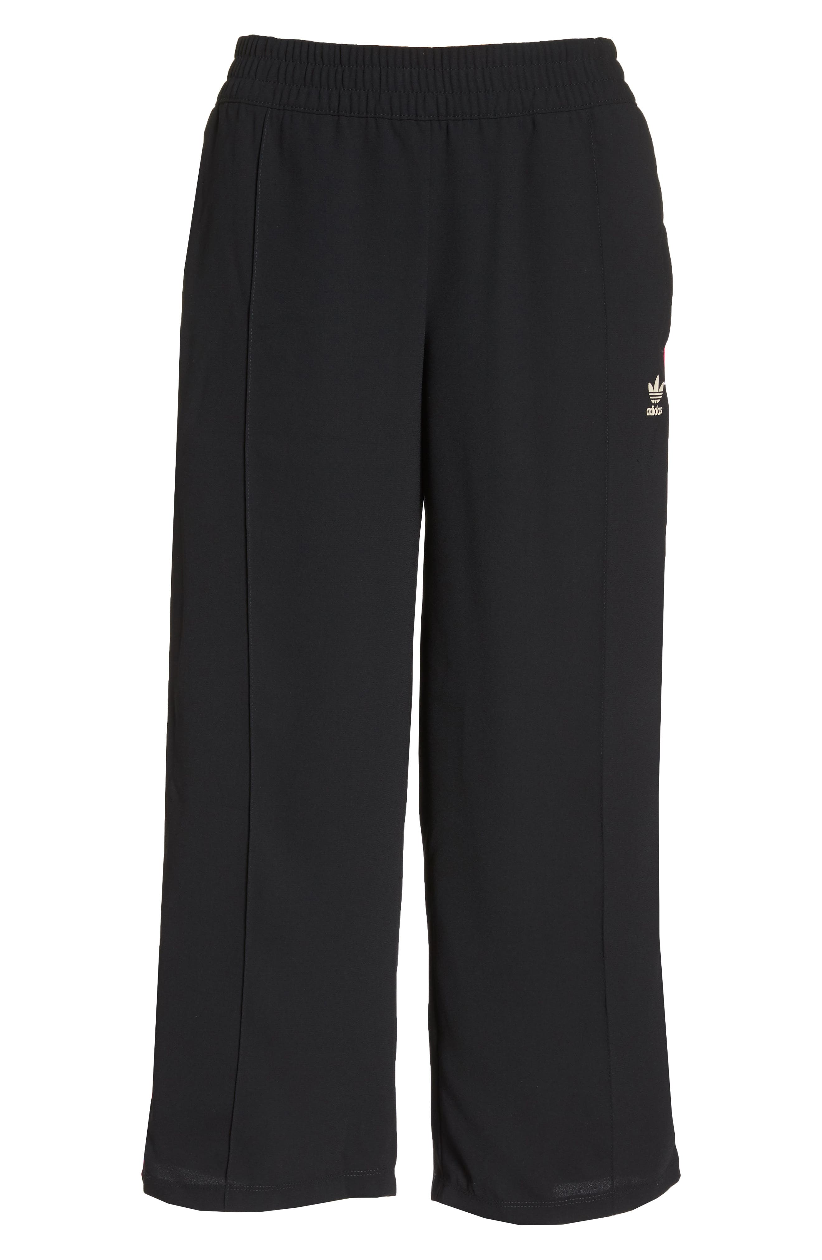adidas Crop Track Pants,                             Alternate thumbnail 7, color,                             001