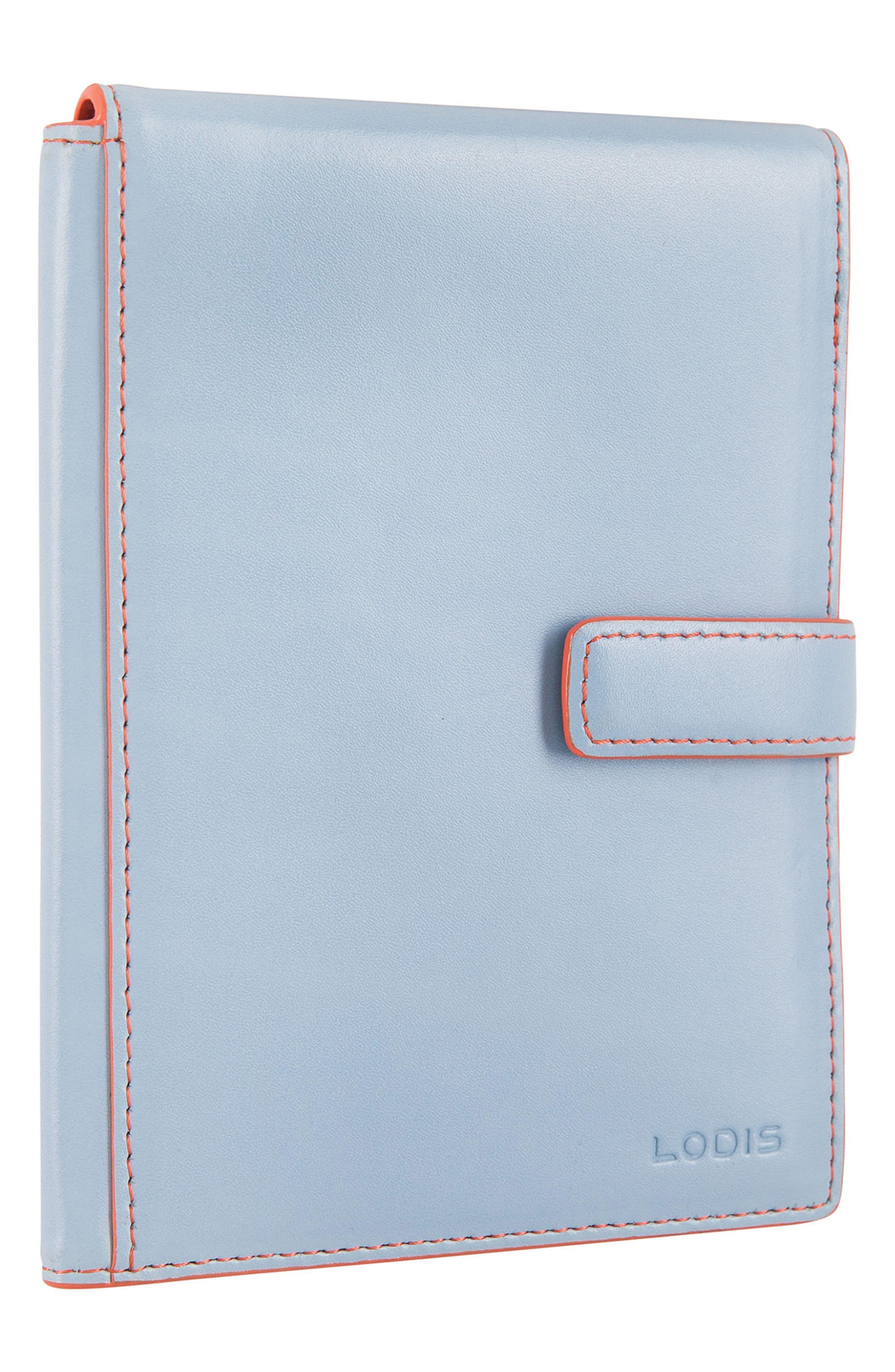Audrey RFID Leather Passport Wallet,                             Alternate thumbnail 4, color,                             400