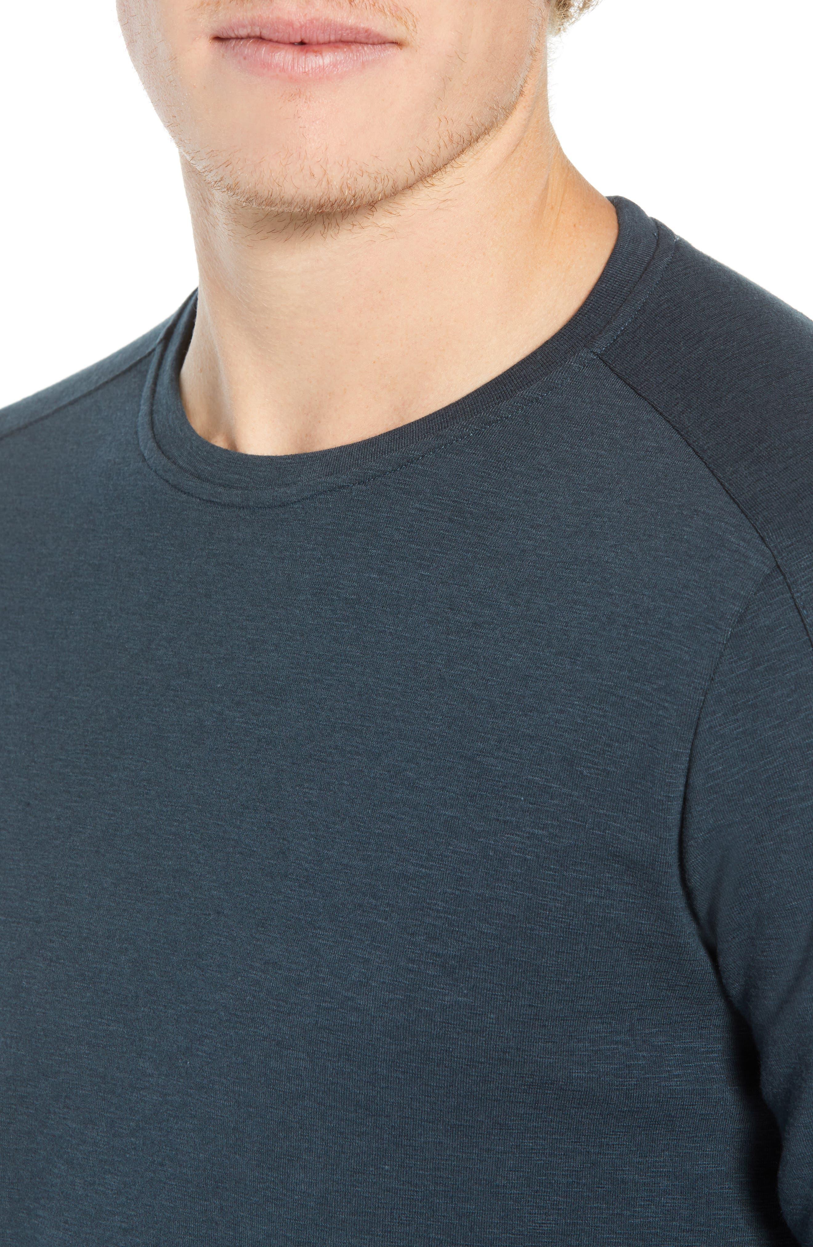 Douglas Slub Long Sleeve T-Shirt,                             Alternate thumbnail 4, color,                             TEAL