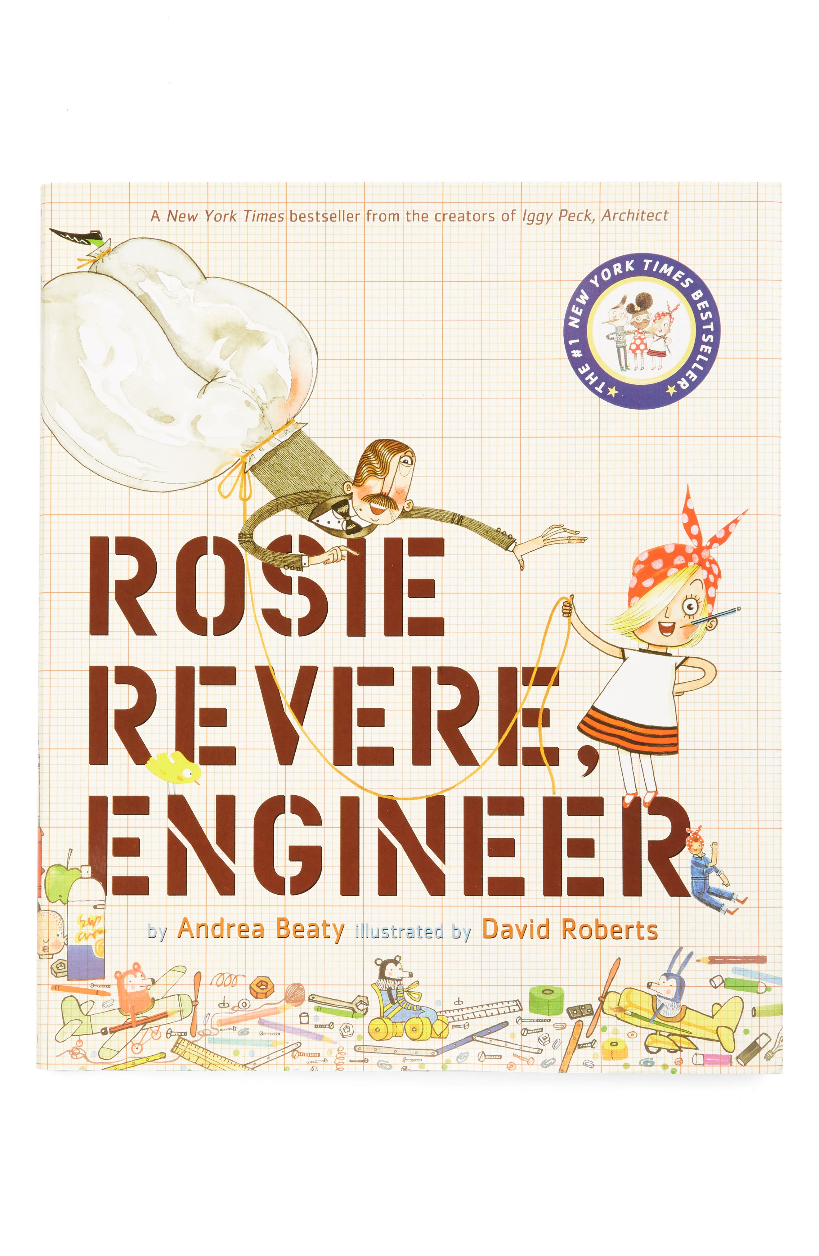 'Rosie Revere, Engineer' Book,                             Main thumbnail 1, color,                             BEIGE