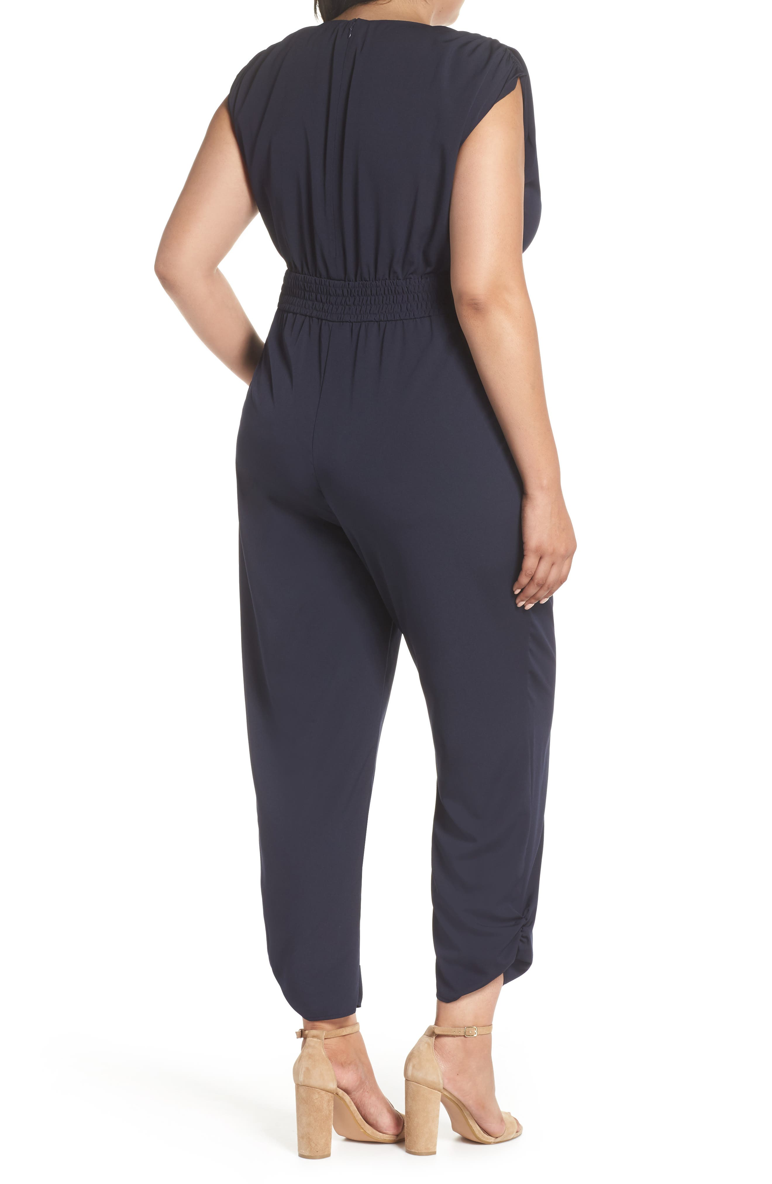 Ruched Ankle Jumpsuit,                             Alternate thumbnail 9, color,                             410