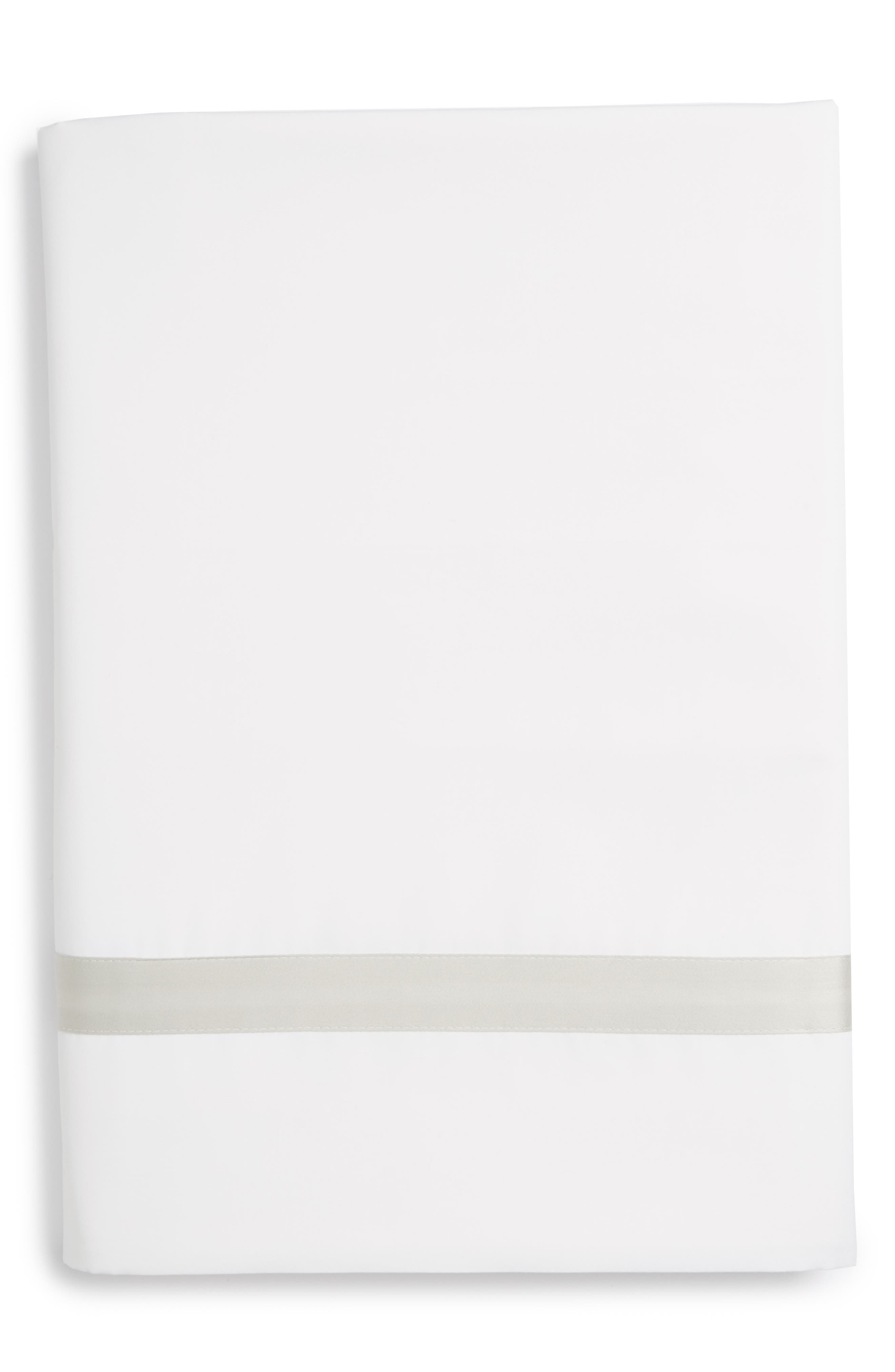 Lowell 600 Thread Count Flat Sheet,                         Main,                         color, SILVER