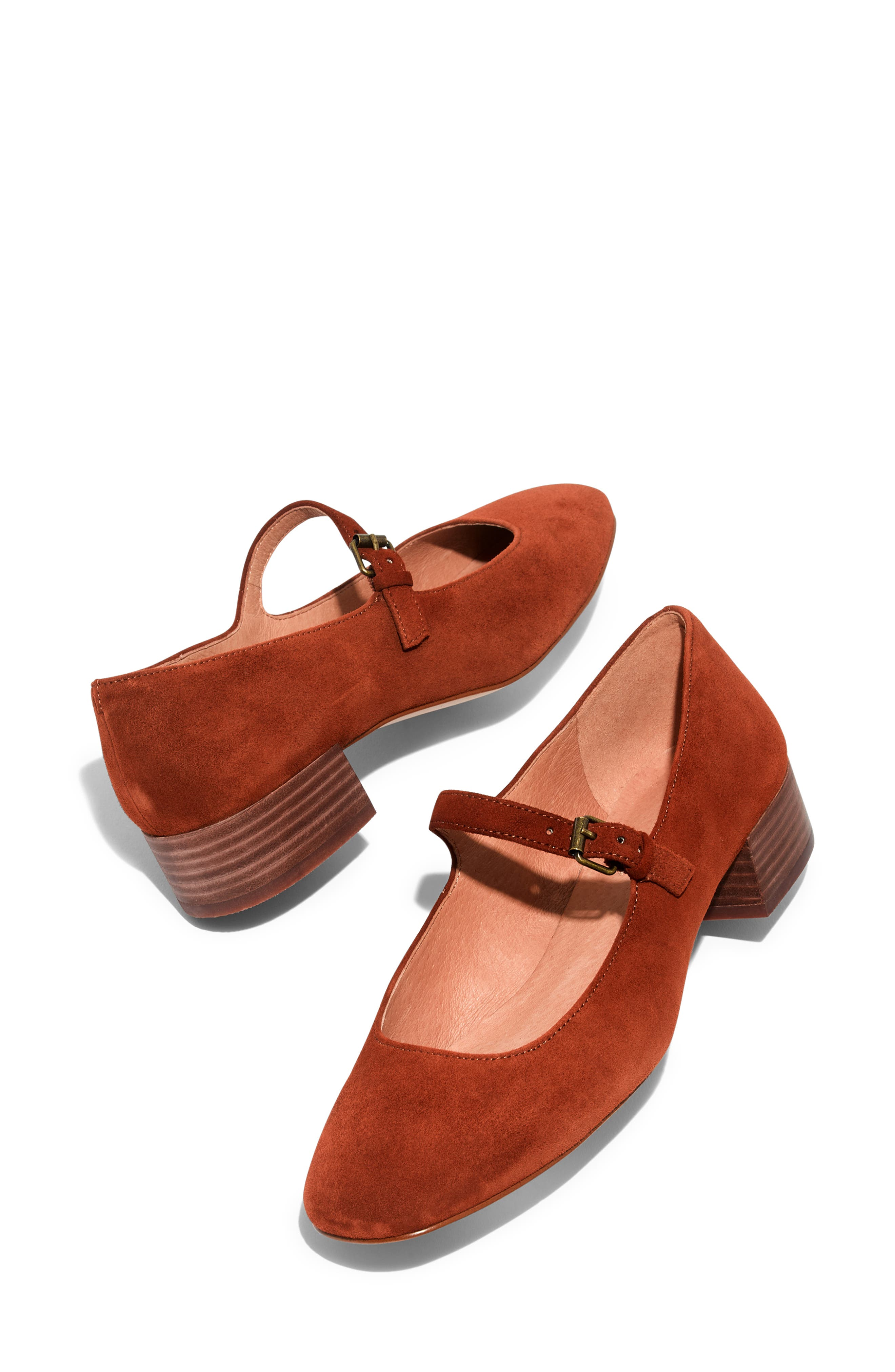 The Delilah Mary Jane Pump,                             Alternate thumbnail 7, color,                             MAPLE SYRUP SUEDE