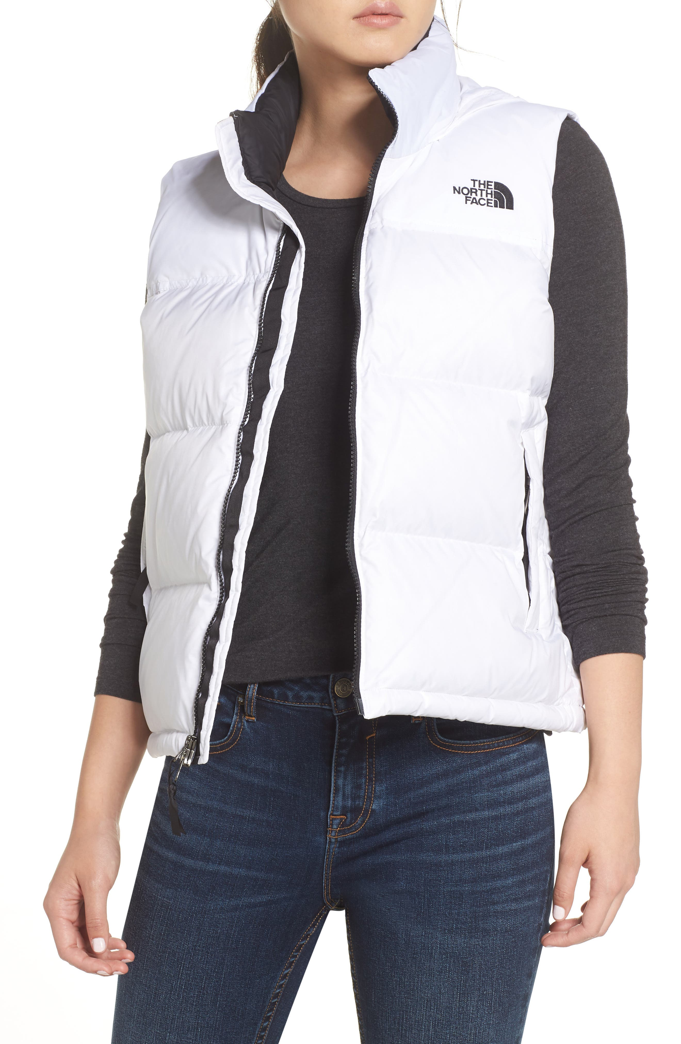 THE NORTH FACE,                             Nuptse 1996 Packable 700-Fill Power Down Vest,                             Main thumbnail 1, color,                             TNF WHITE