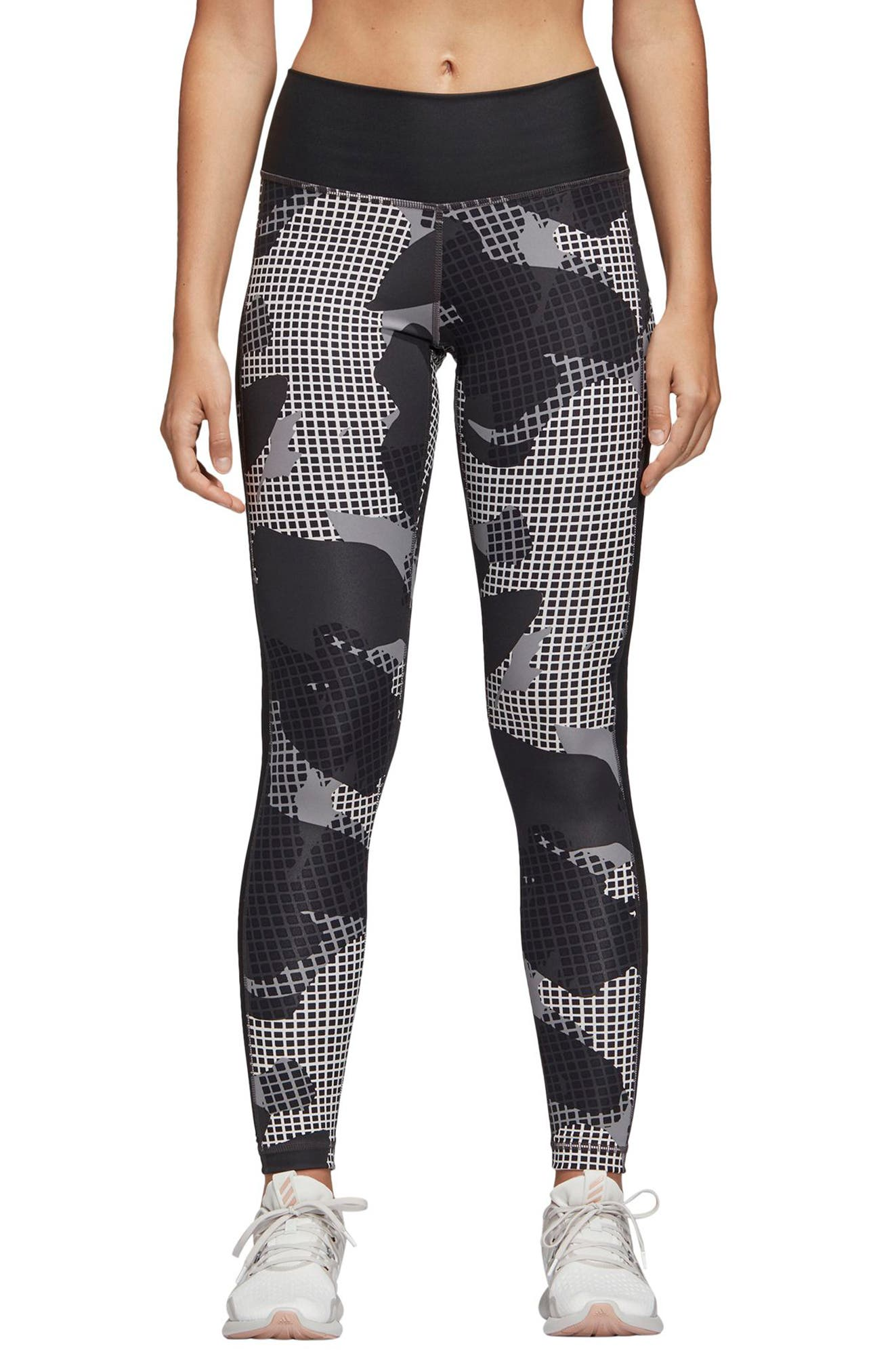 Heatracer Leggings,                         Main,                         color, BLACK/ PRINT