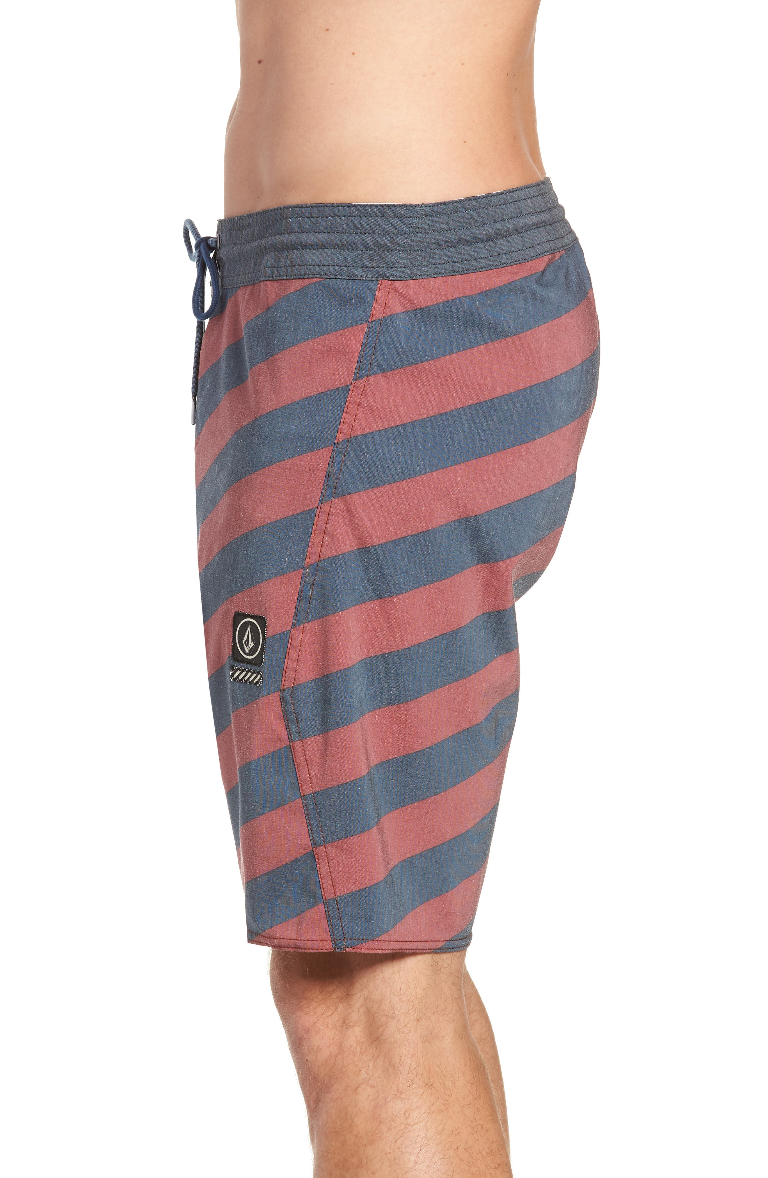 Stripey Stoney Boardshorts,                             Alternate thumbnail 3, color,                             RUST