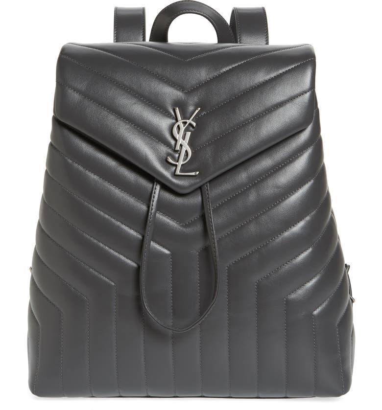 Saint Laurent Medium Loulou Calfskin Leather Backpack  0281756869b56