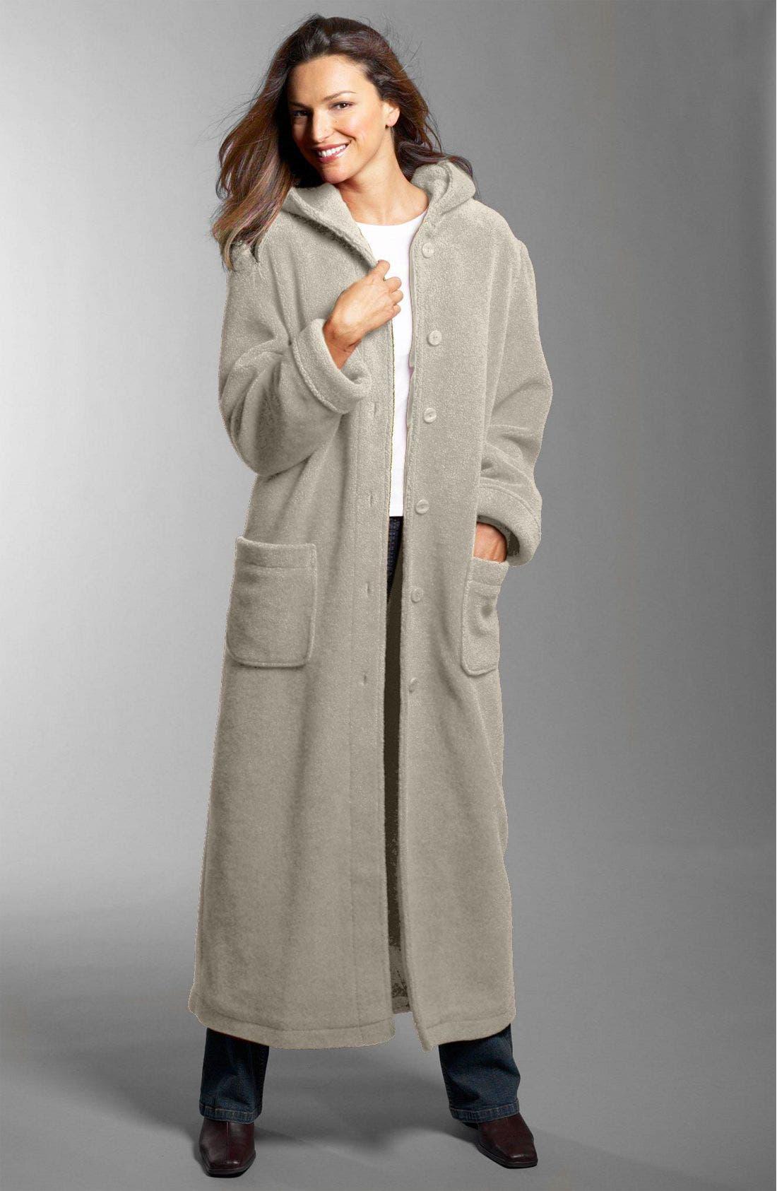Hooded Berber Fleece Coat,                             Main thumbnail 1, color,                             OAT