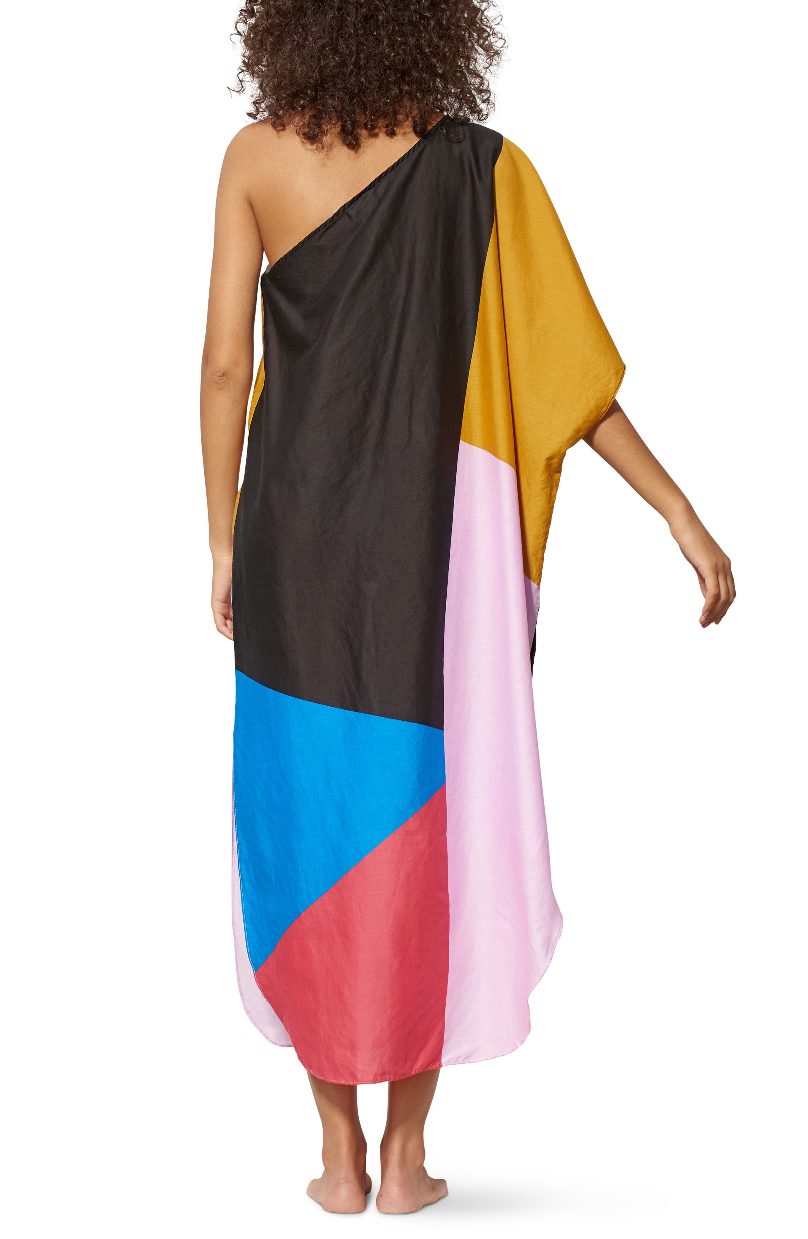 Noa One-Shoulder Cover-Up Maxi Dress,                             Alternate thumbnail 2, color,