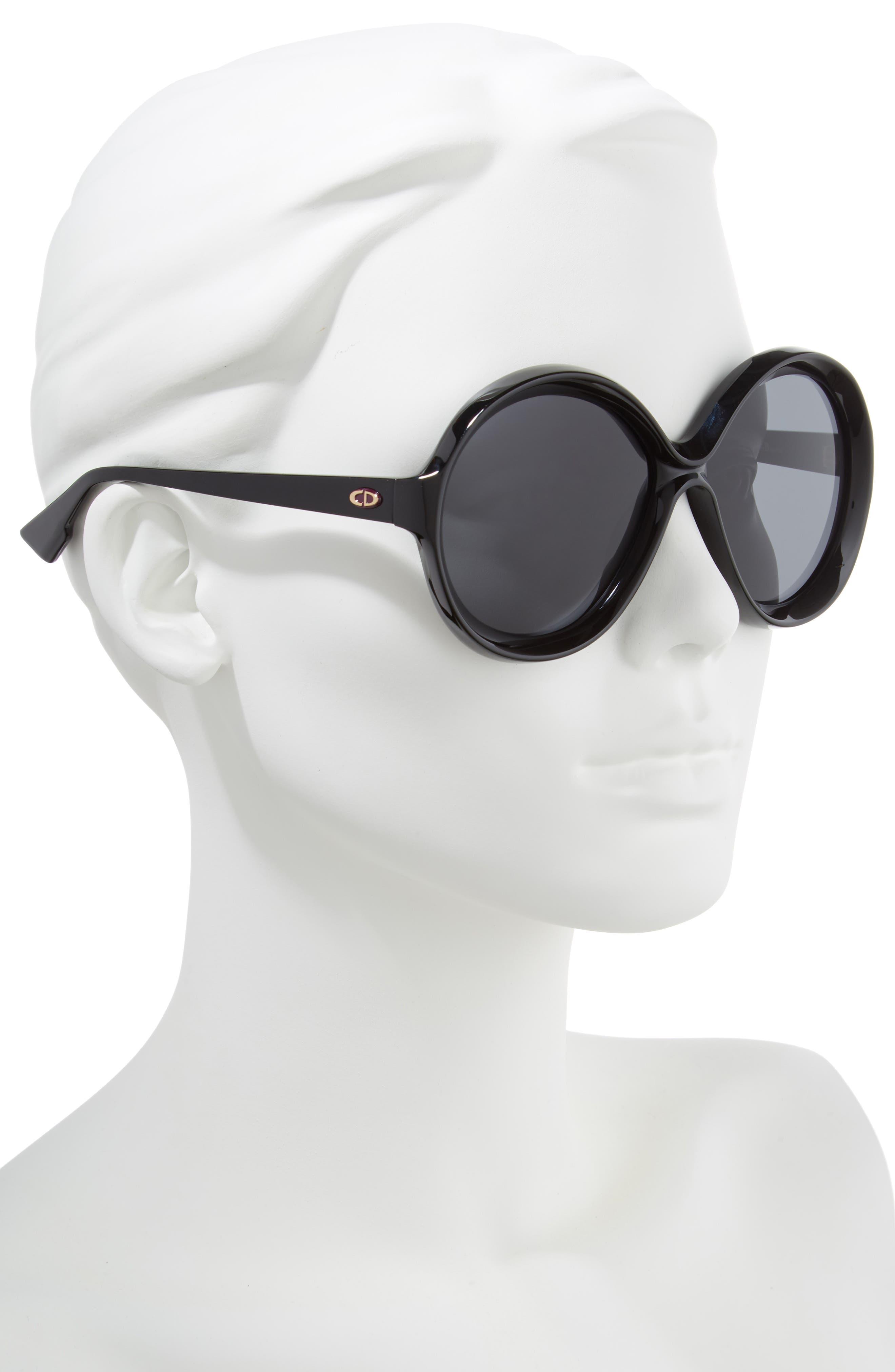 Bianca 58mm Round Sunglasses,                             Alternate thumbnail 2, color,                             001